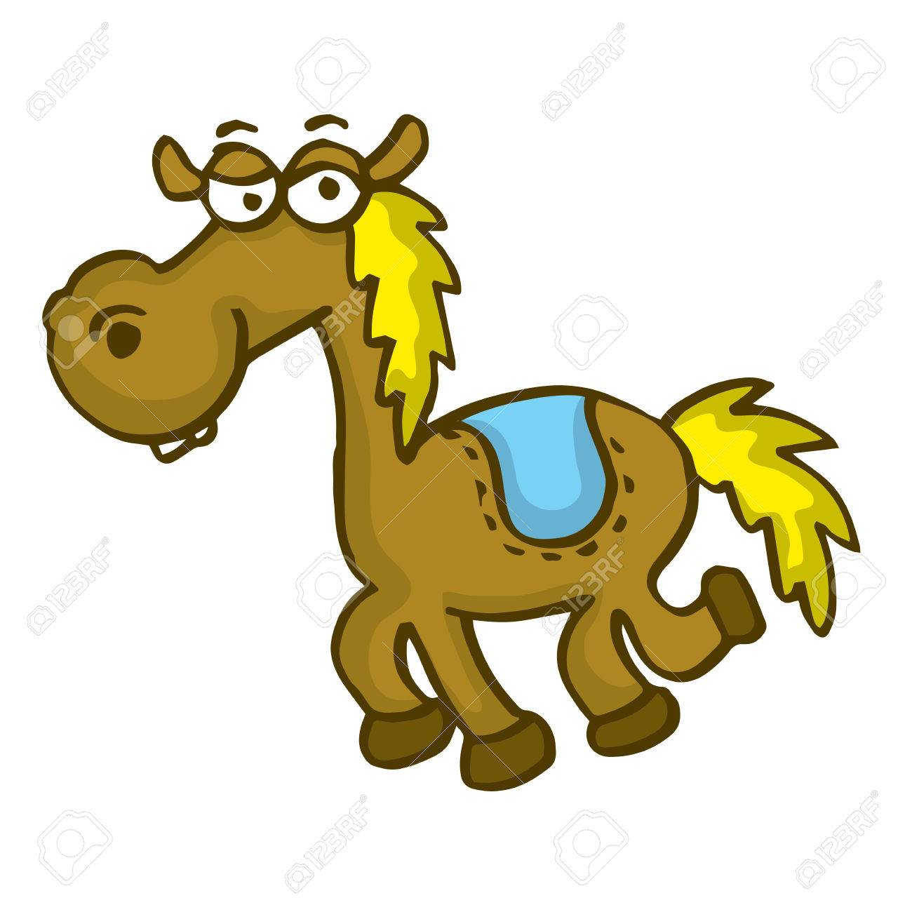 Happy Horse Funny Cartoon Vector Art Illustration Royalty Free Cliparts Vectors And Stock Illustration Image 67724717