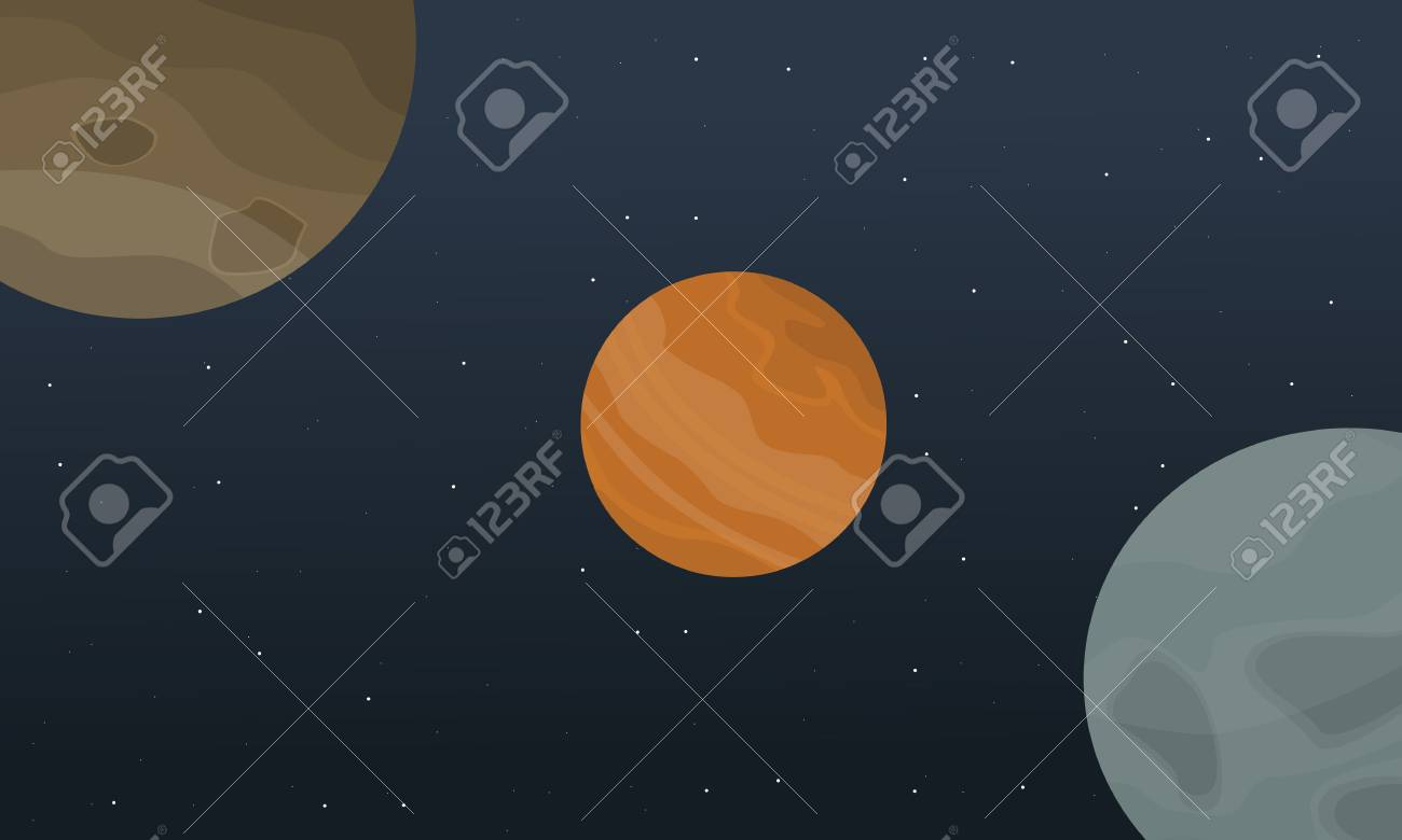 Illustration Vector Outer Space Landscape Collection Stock Royalty Free Cliparts Vectors And Stock Illustration Image 67843798