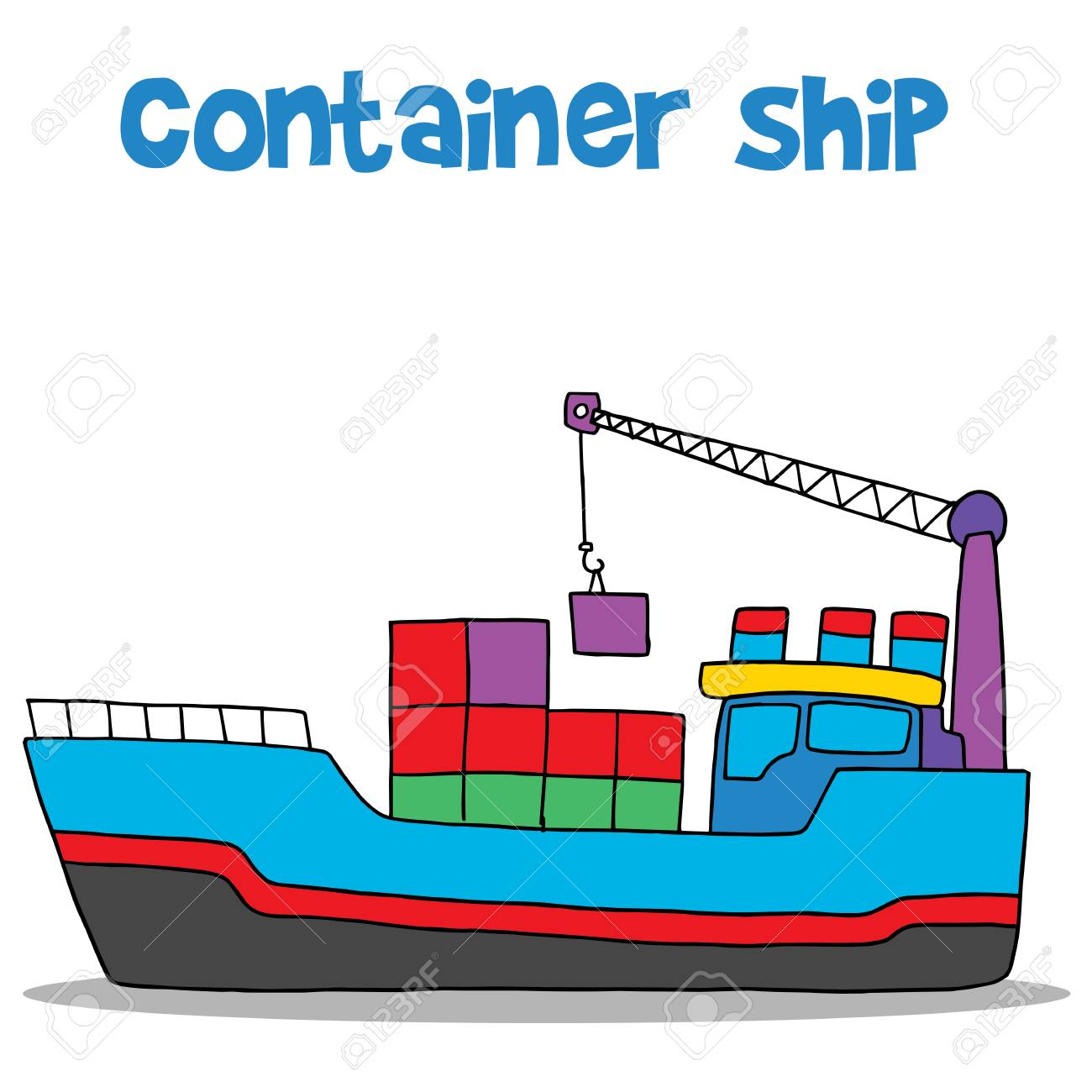 cartoon of container ship vector royalty free cliparts vectors and rh 123rf com ship victory 2 ship victory 2