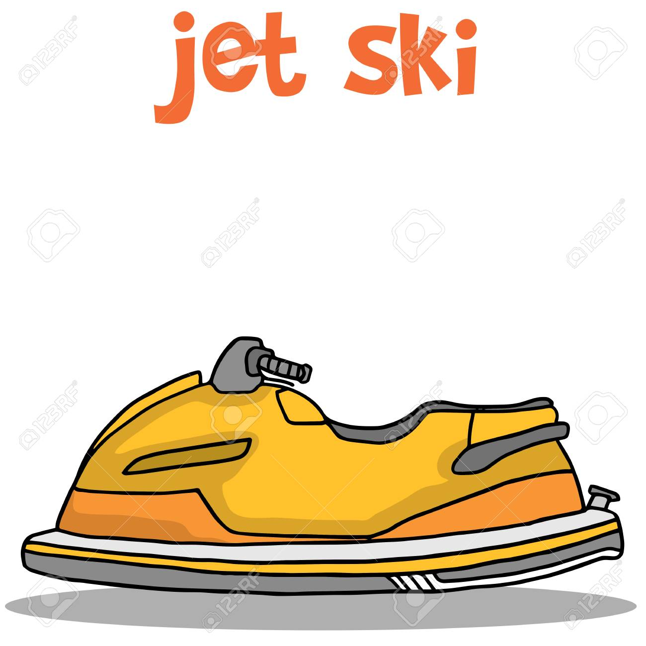 Illustration Of Jet Ski Cartoon Collection Stock Royalty Free Cliparts Vectors And Stock Illustration Image 71094393