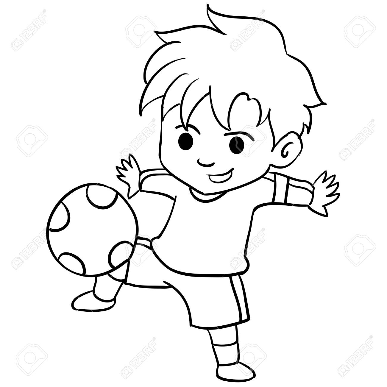 Collection Of Kid Playing Football Royalty Free Cliparts Vectors And Stock Illustration Image 74509384