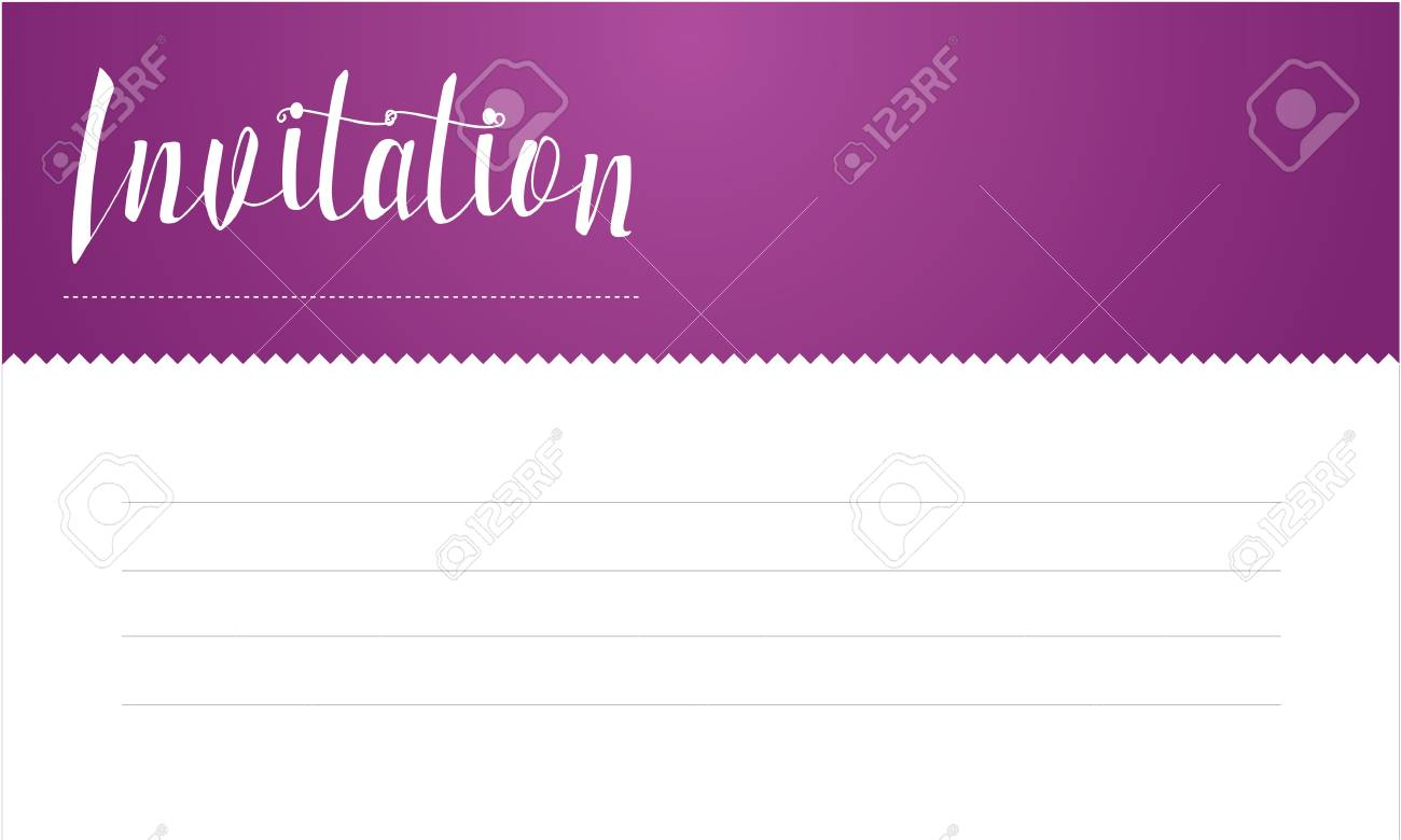 Simple Tarjeta De Invitación De Estilo De Línea
