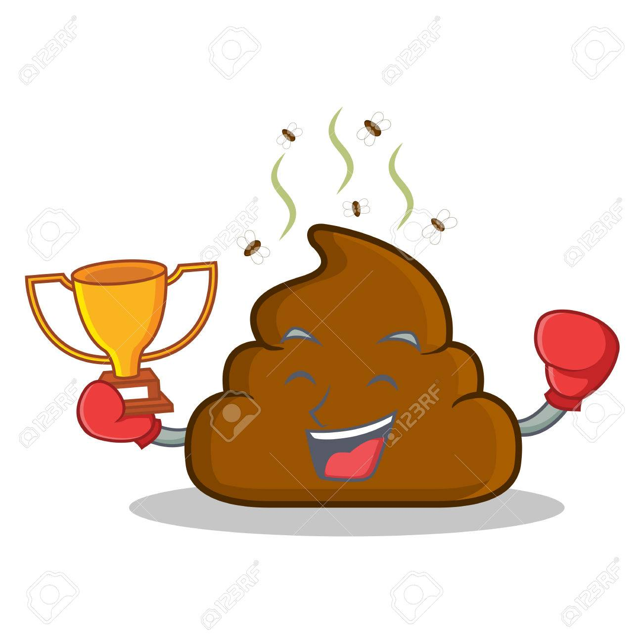 Boxing winner poop emoticon character cartoon royalty free boxing winner poop emoticon character cartoon stock vector 84515745 voltagebd Gallery