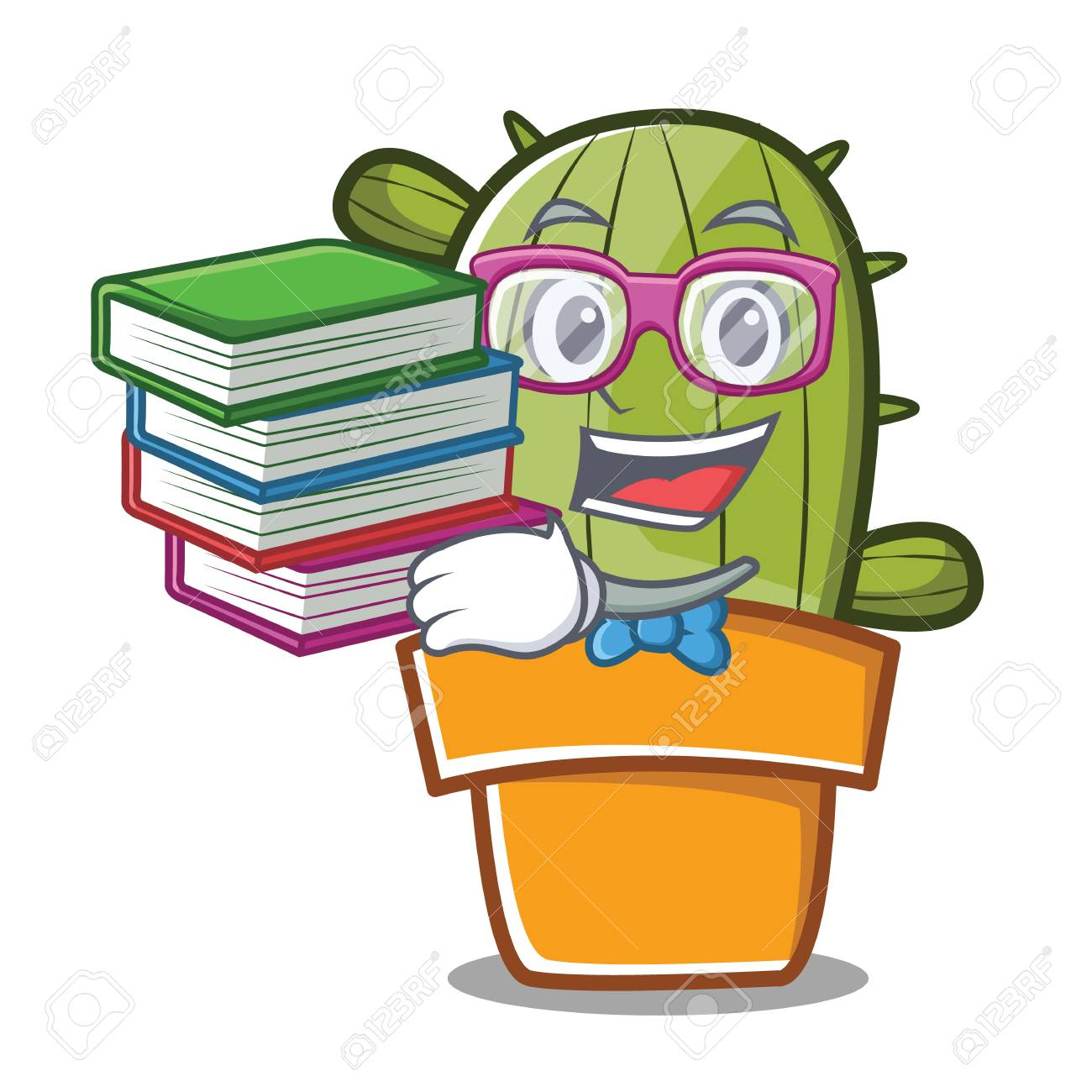Student With Book Cute Cactus Character Cartoon Royalty Free Cliparts,  Vectors, And Stock Illustration. Image 87286911.