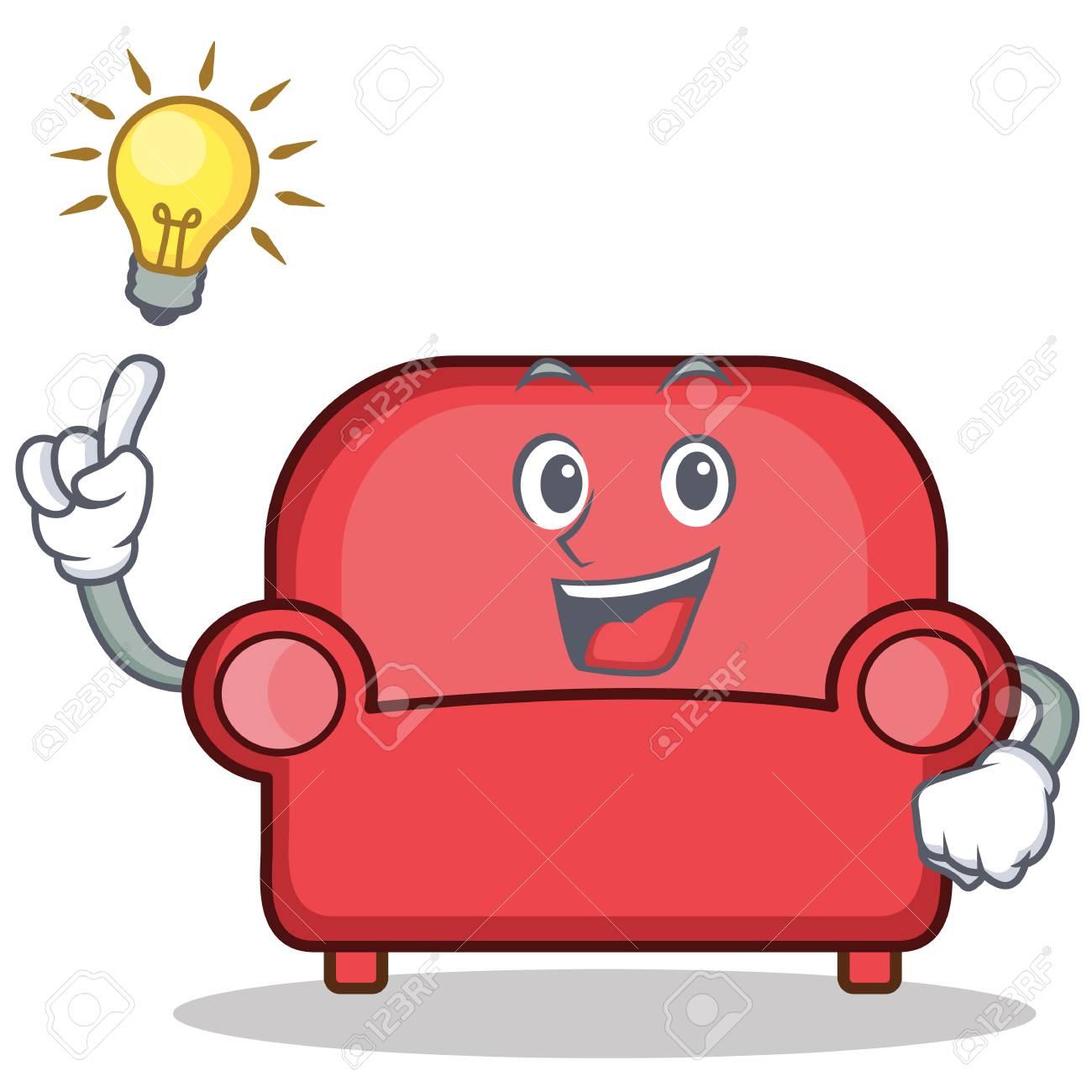 avoir une idée de dessin animé de personnage canapé rouge. clip art