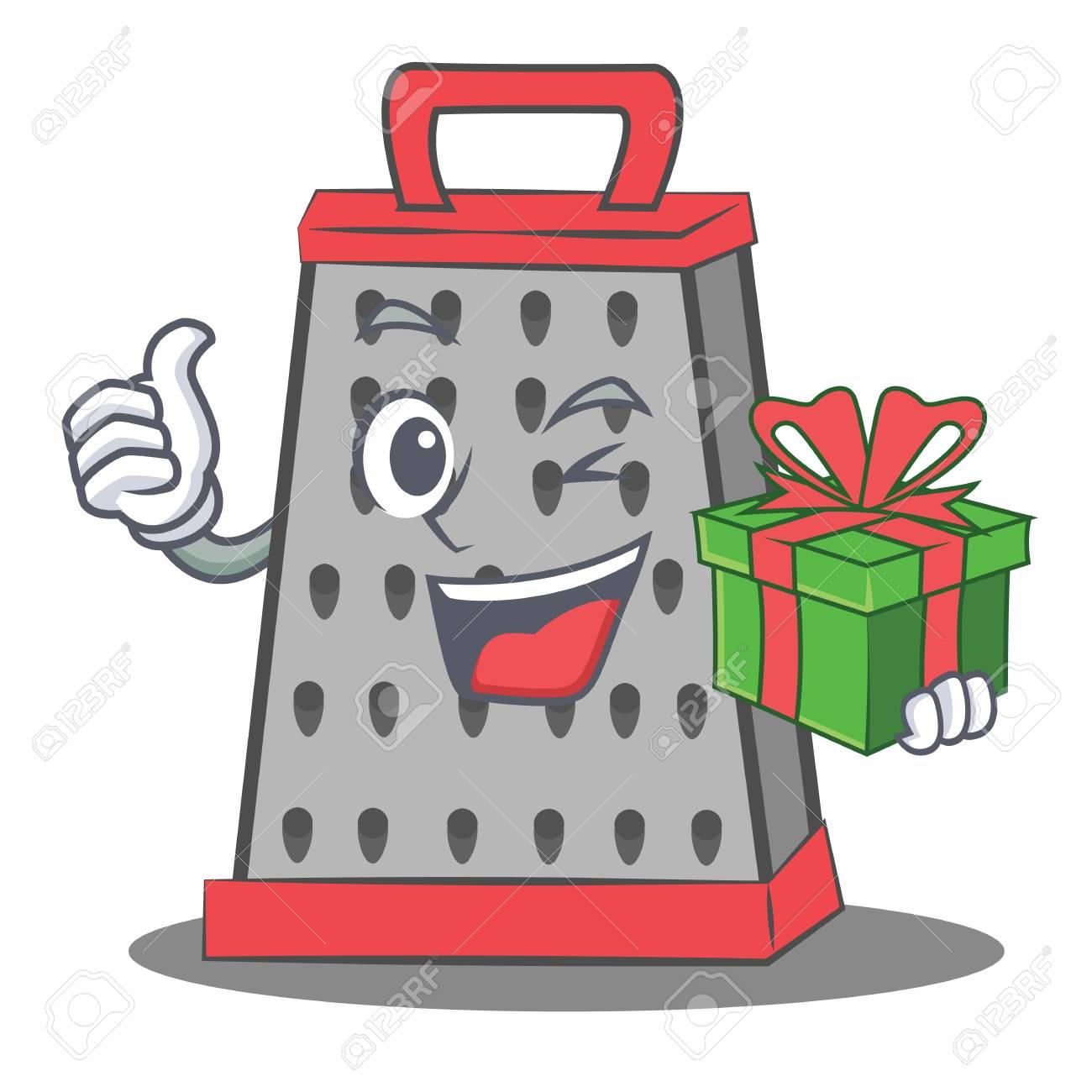 Mit Geschenkküche Reibe Charakter Cartoon Lizenzfrei Nutzbare ...