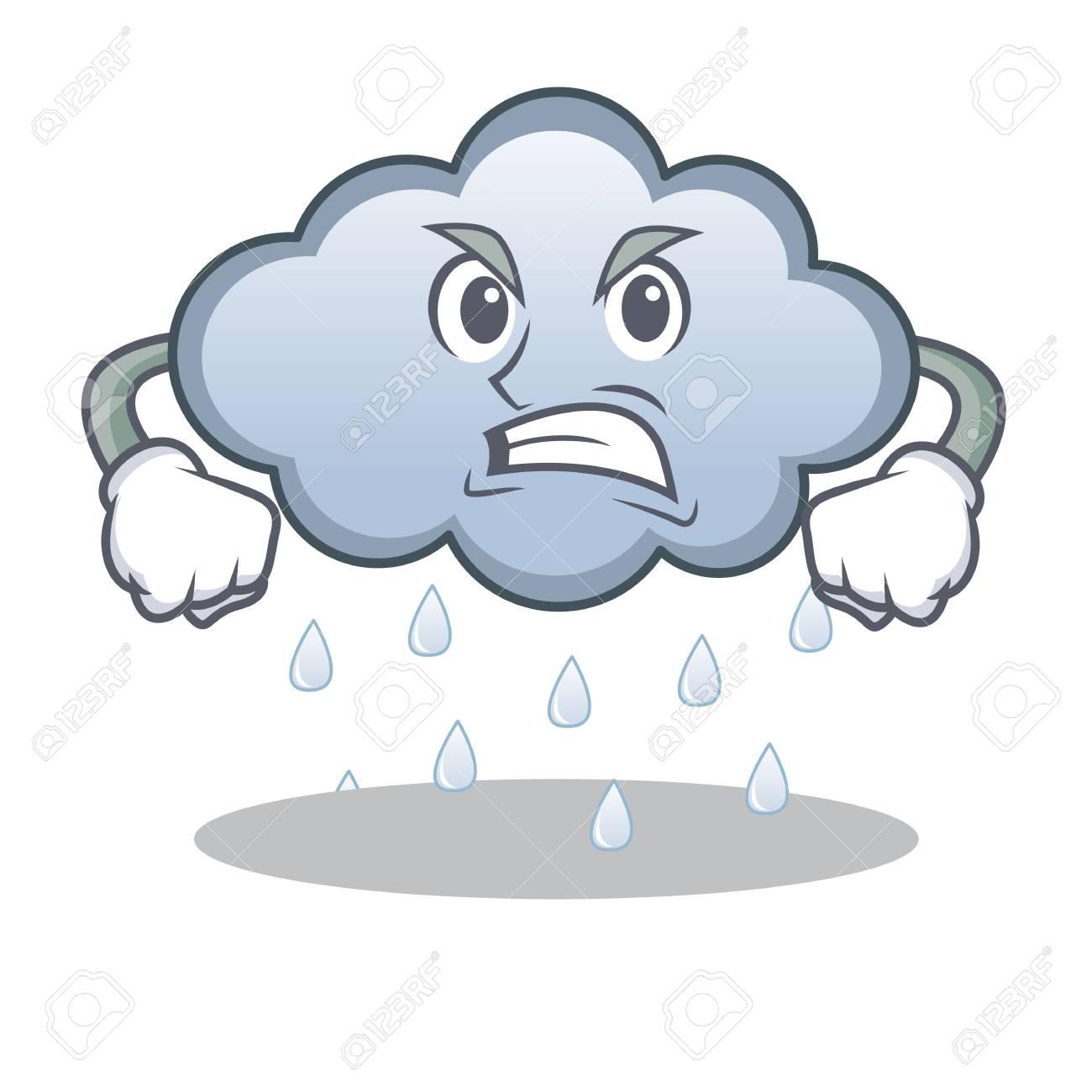 angry rain cloud character cartoon royalty free cliparts vectors rh 123rf com cartoon rain cloud over head cartoon character rain cloud over head