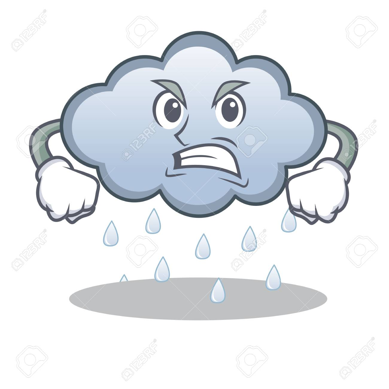 angry rain cloud character cartoon royalty free cliparts vectors rh 123rf com cartoon character rain cloud over head cartoon rain cloud with lightning