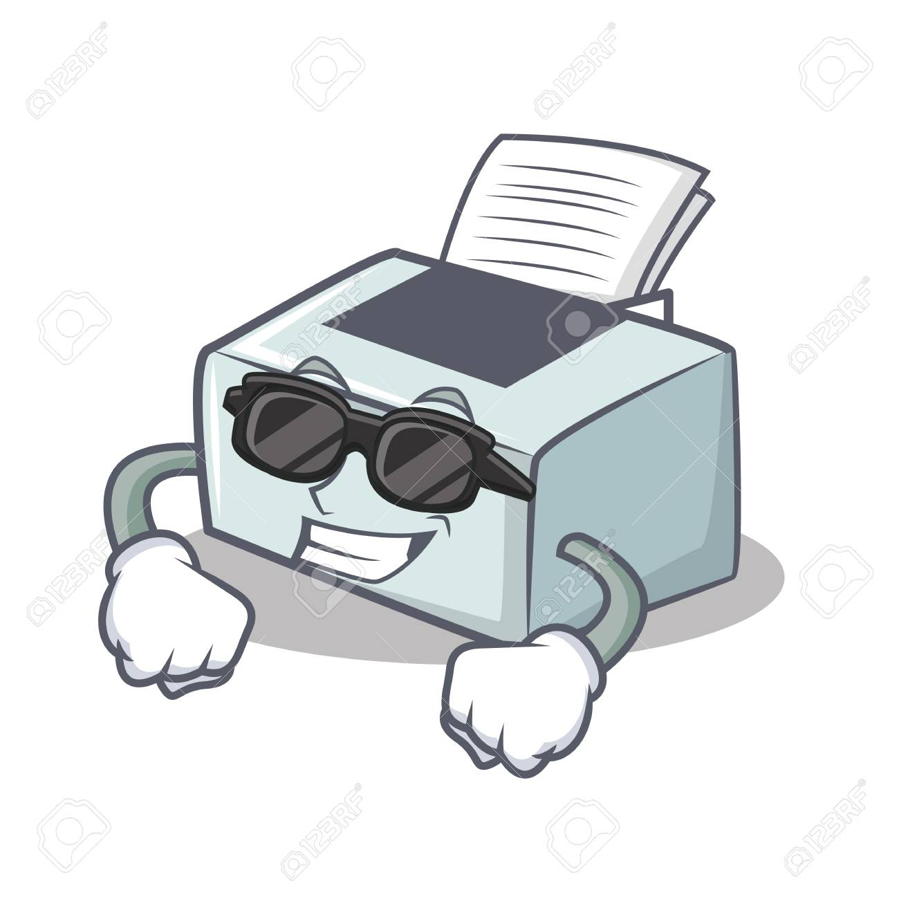 Super Cool Printer Character Cartoon Style Illustration Royalty Free Cliparts Vectors And Stock Illustration Image 93072005