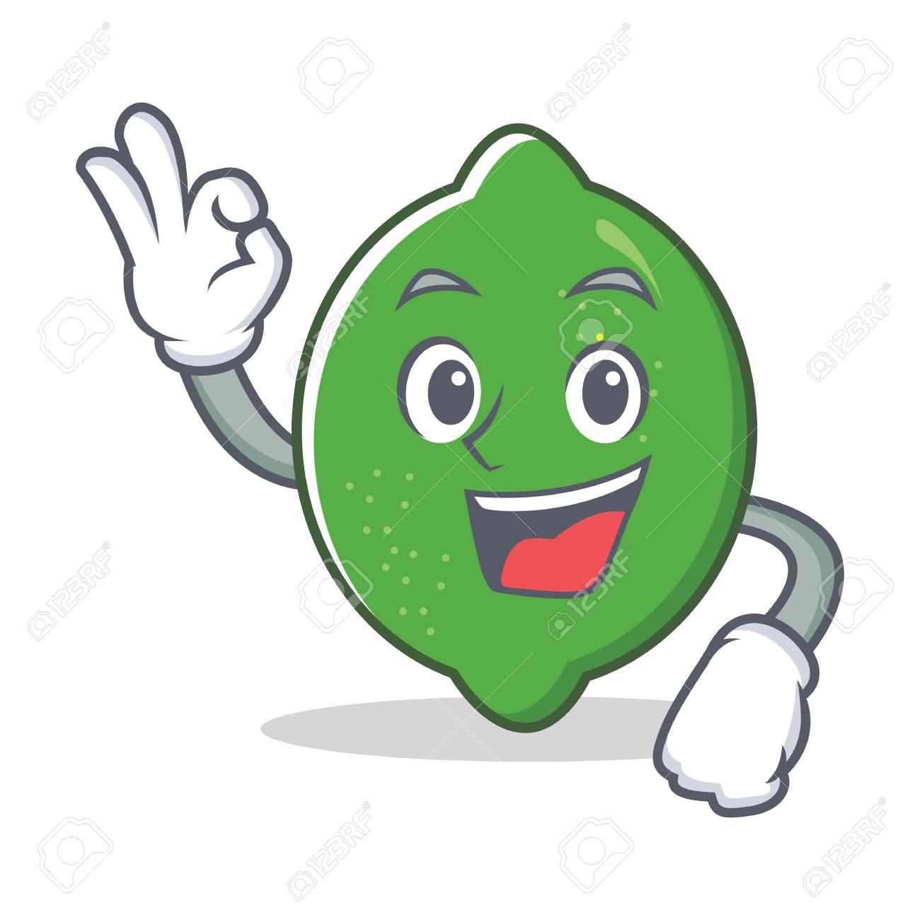 Okay lime character cartoon style - 93508276