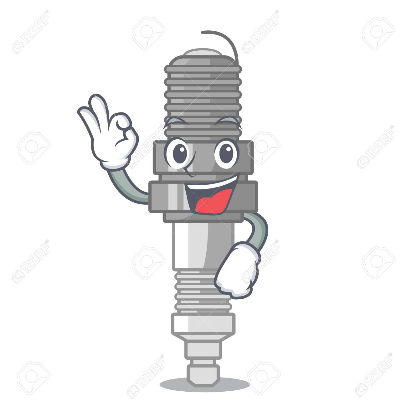 Okay Spark Plug In A Cartoon Box Vector Illustration Royalty Free Cliparts Vectors And Stock Illustration Image 117896853