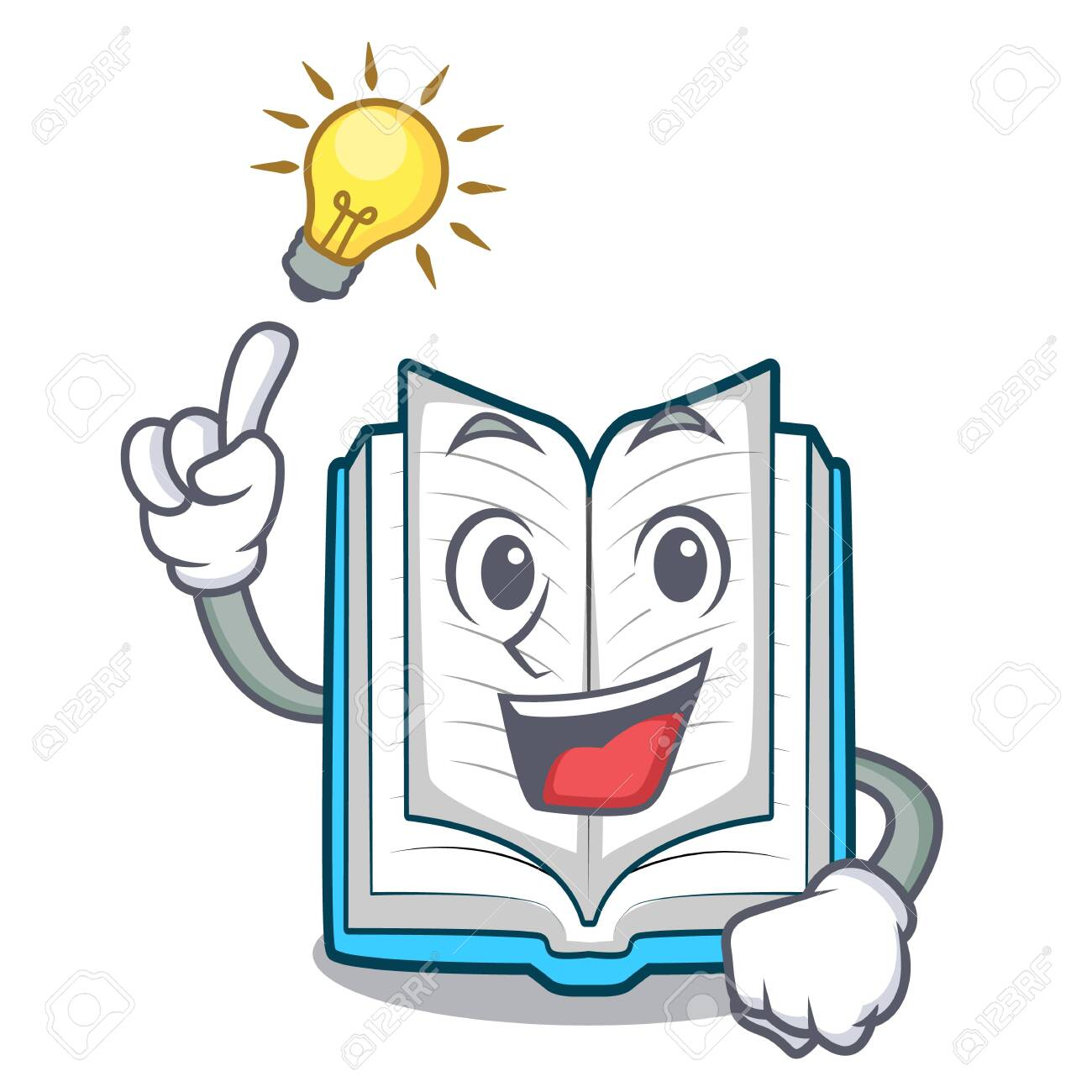 Have an idea opened book in the cartoon box vetor illustration - 124483791