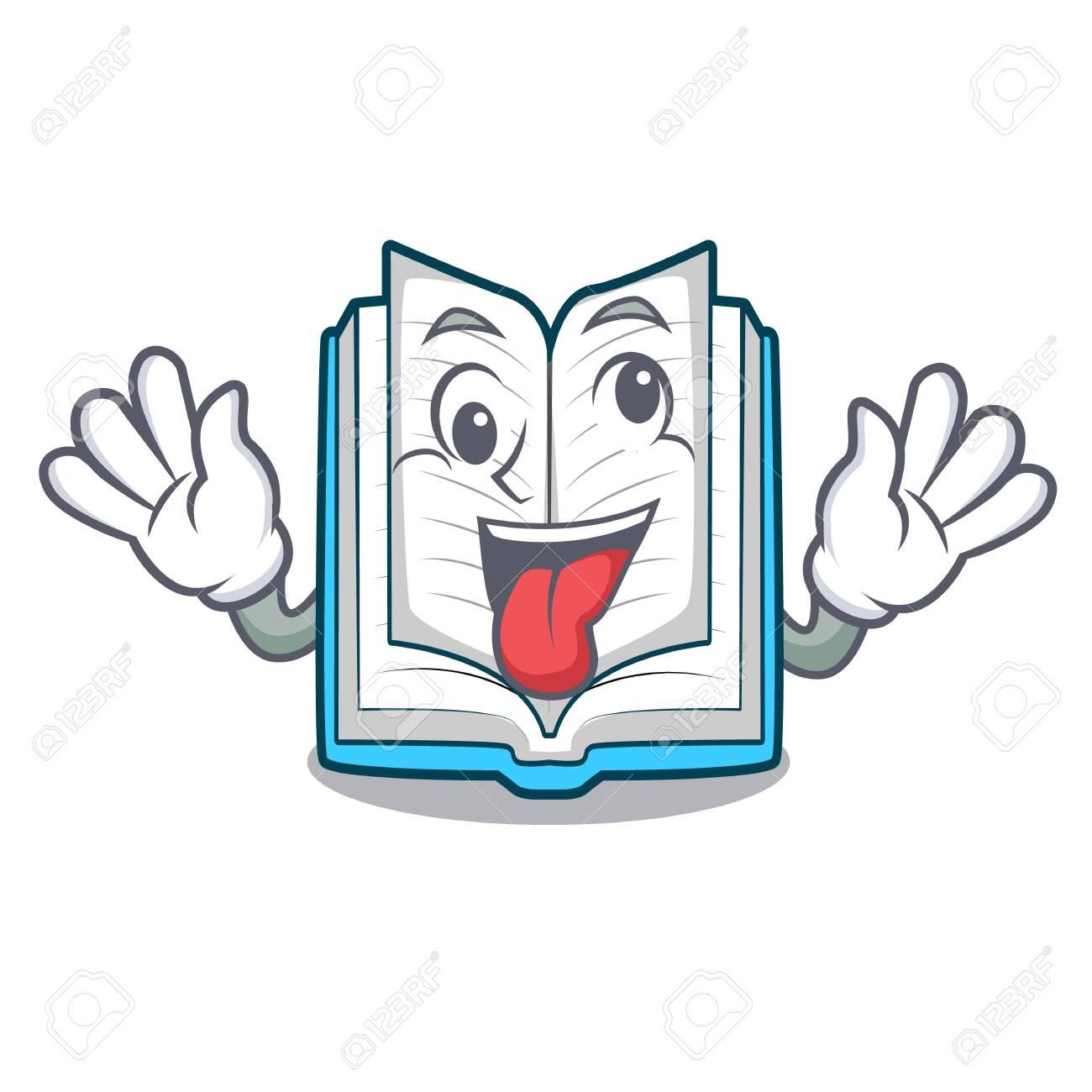 Crazy opened book in the cartoon box vetor illustration - 124483806