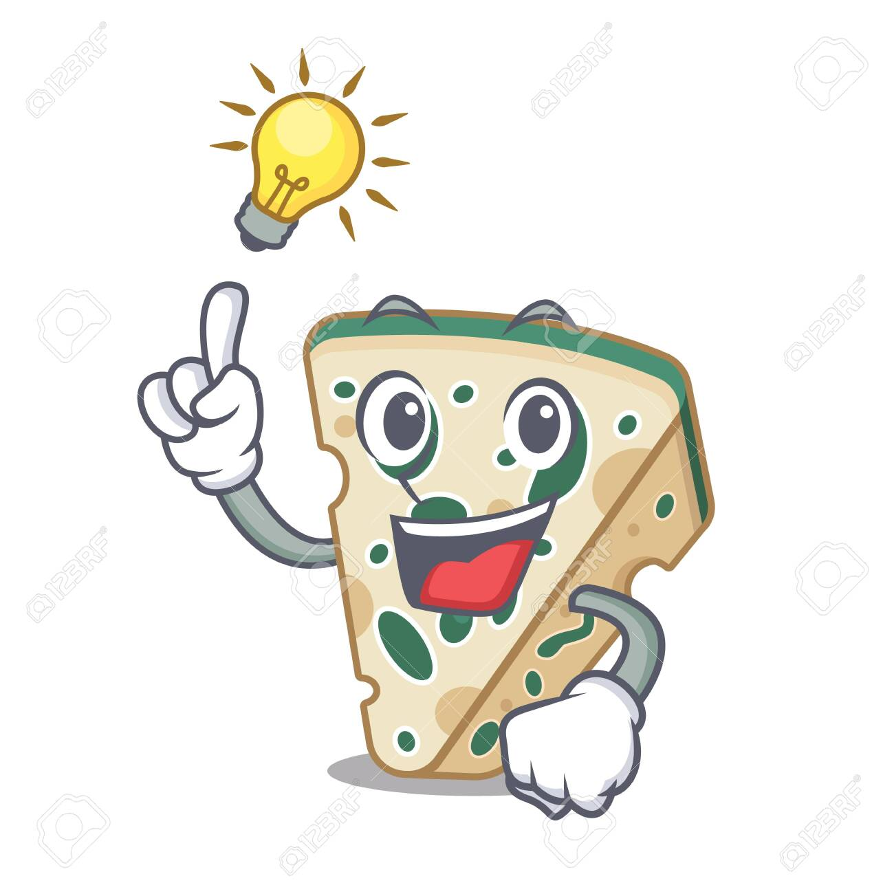 Have an idea blue cheese isolated with the mascot - 126592264