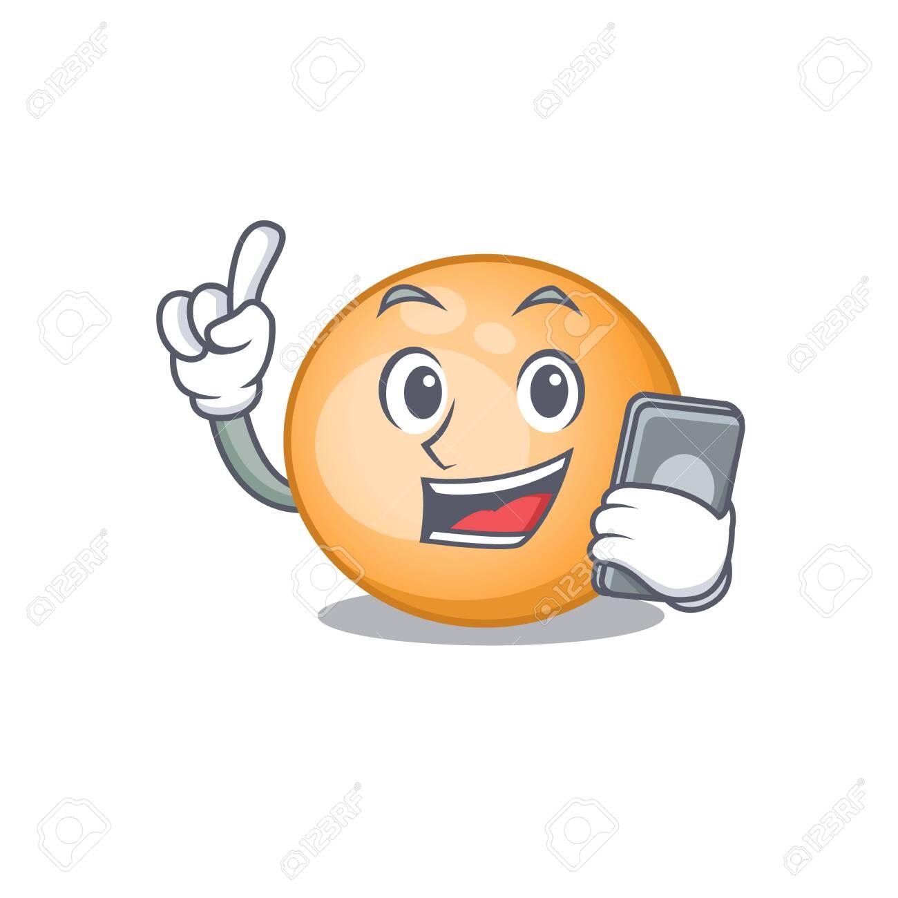 Staphylocuccus aureus cartoon character speaking on phone - 146740406