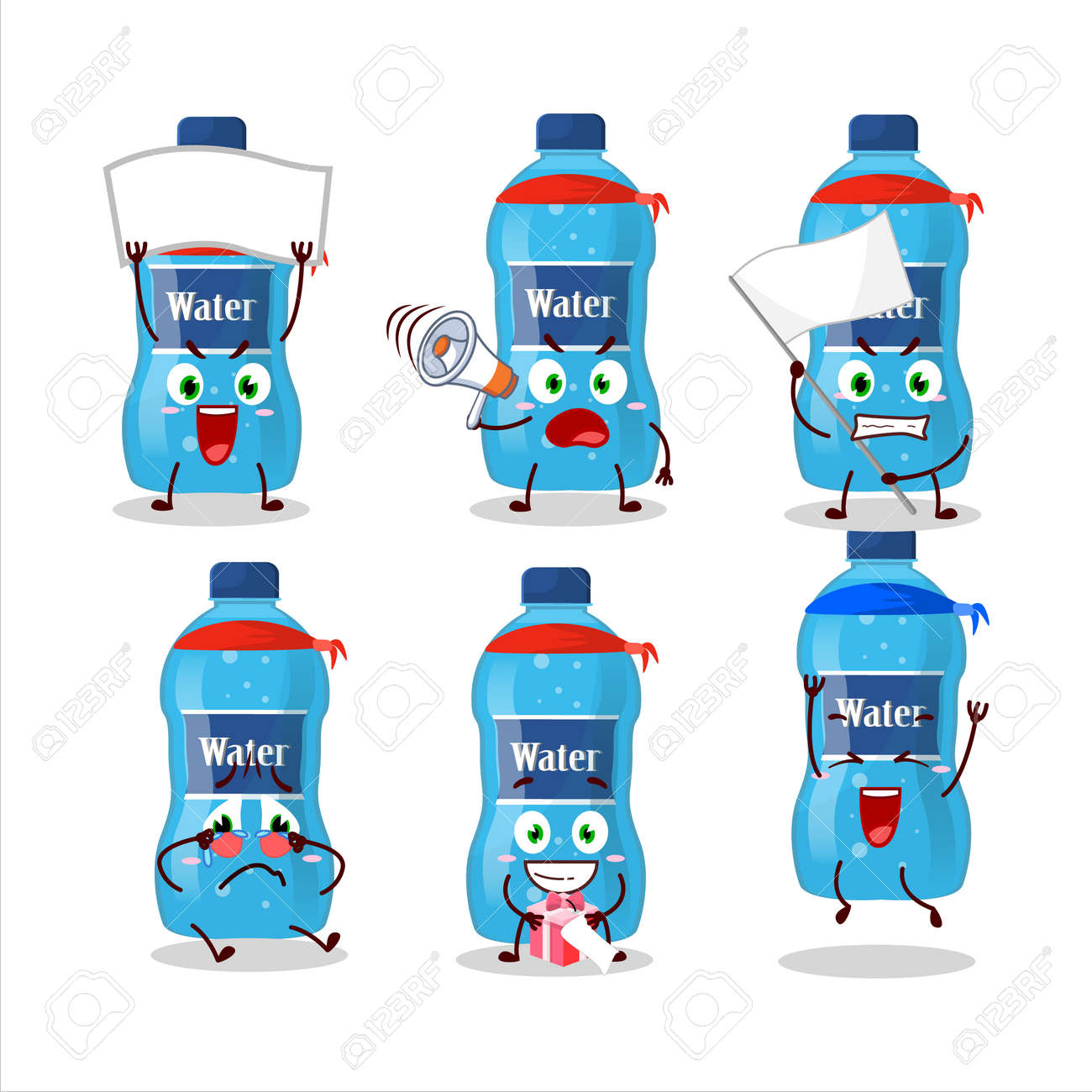 Mascot design style of water bottle character as an attractive supporter - 172515421