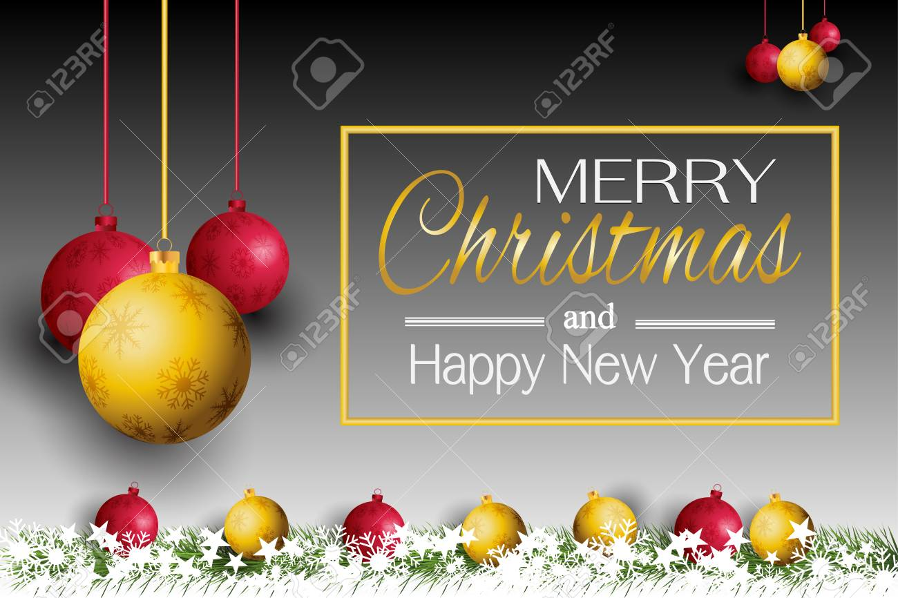 merry christmas card and new year 2019 with a lamp on the grass background stock