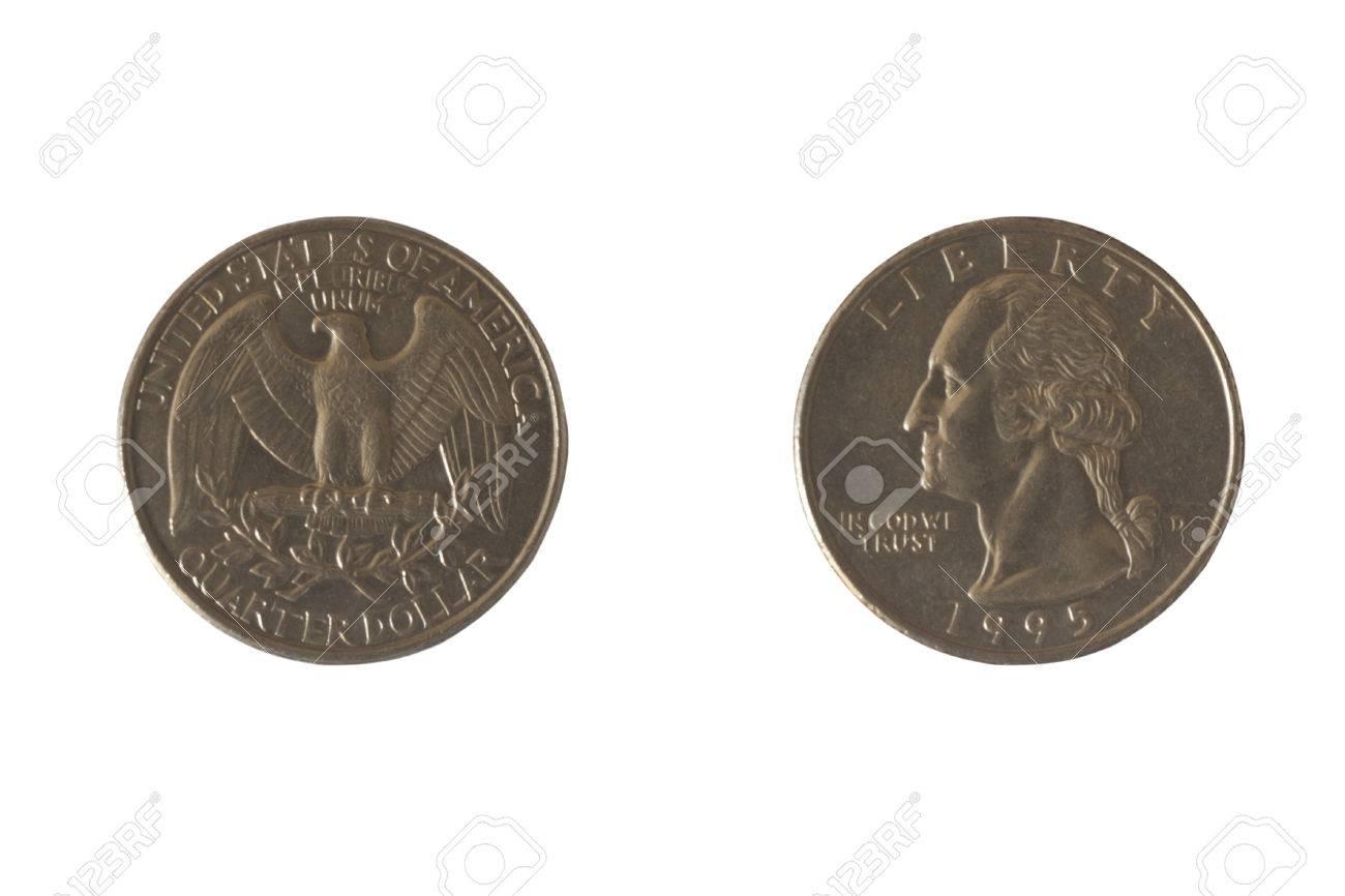 Münze Usa 25 Cent Mit Dem Bild Von George Washington Und