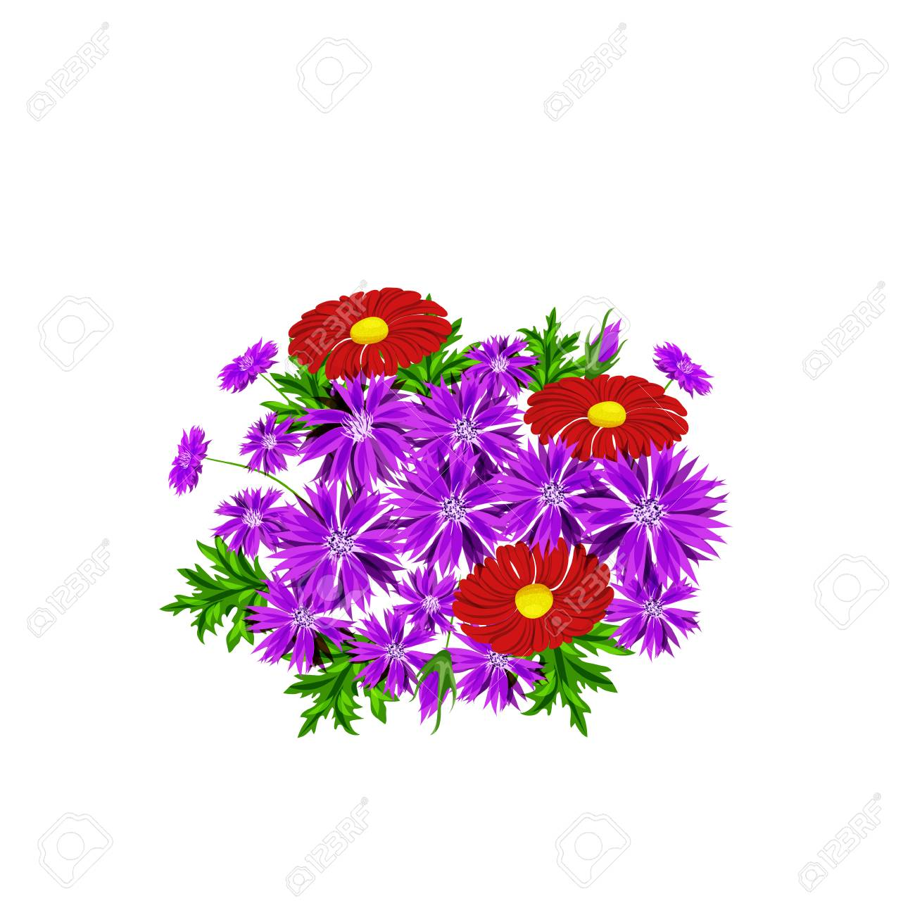 Vector, Bouquet Of Flowers For The Design Of Cards, Invitations ...