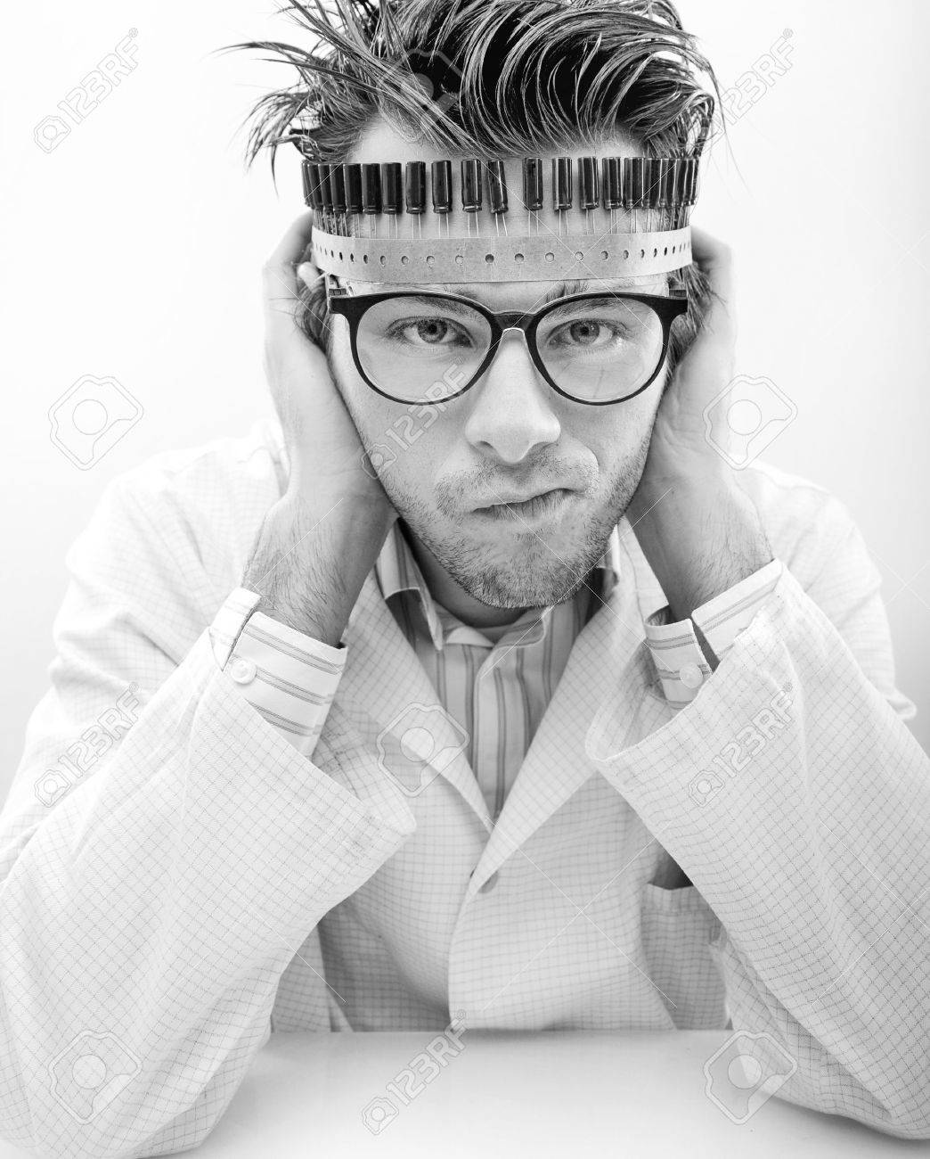 Portrait of a madman scientist Stock Photo - 7079292