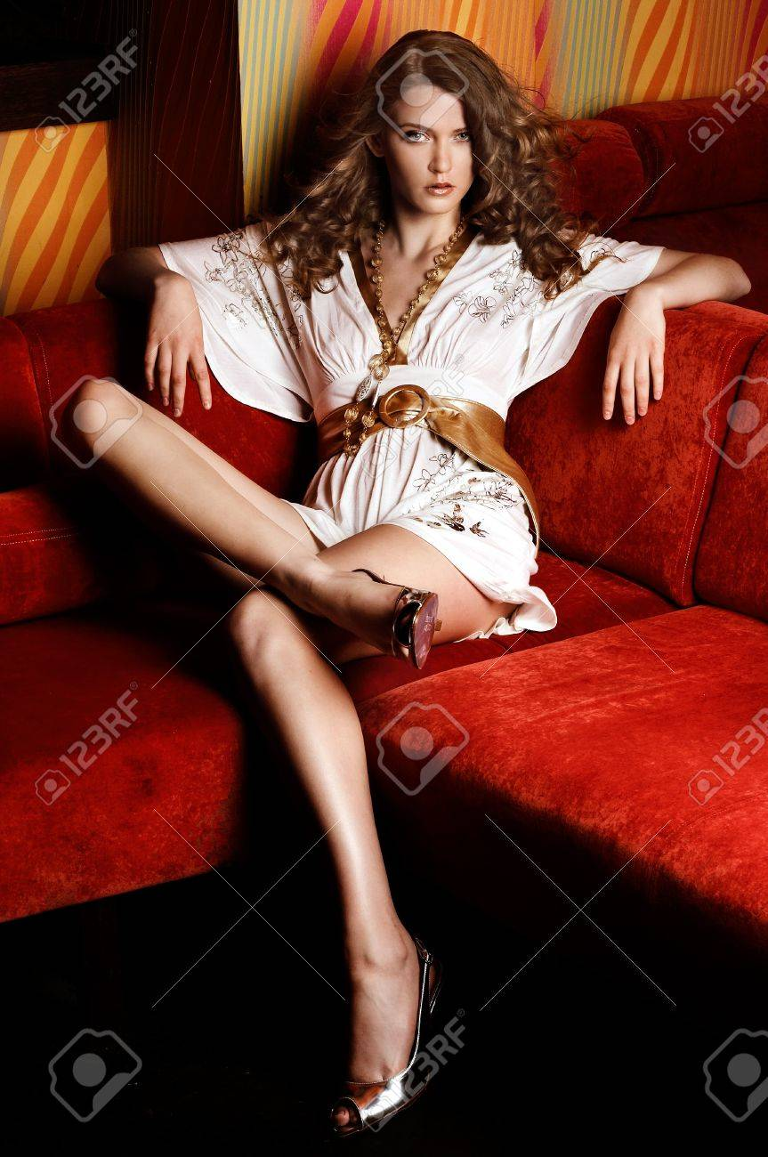 Fashion style portrait of a beautiful young lady Stock Photo - 8764352