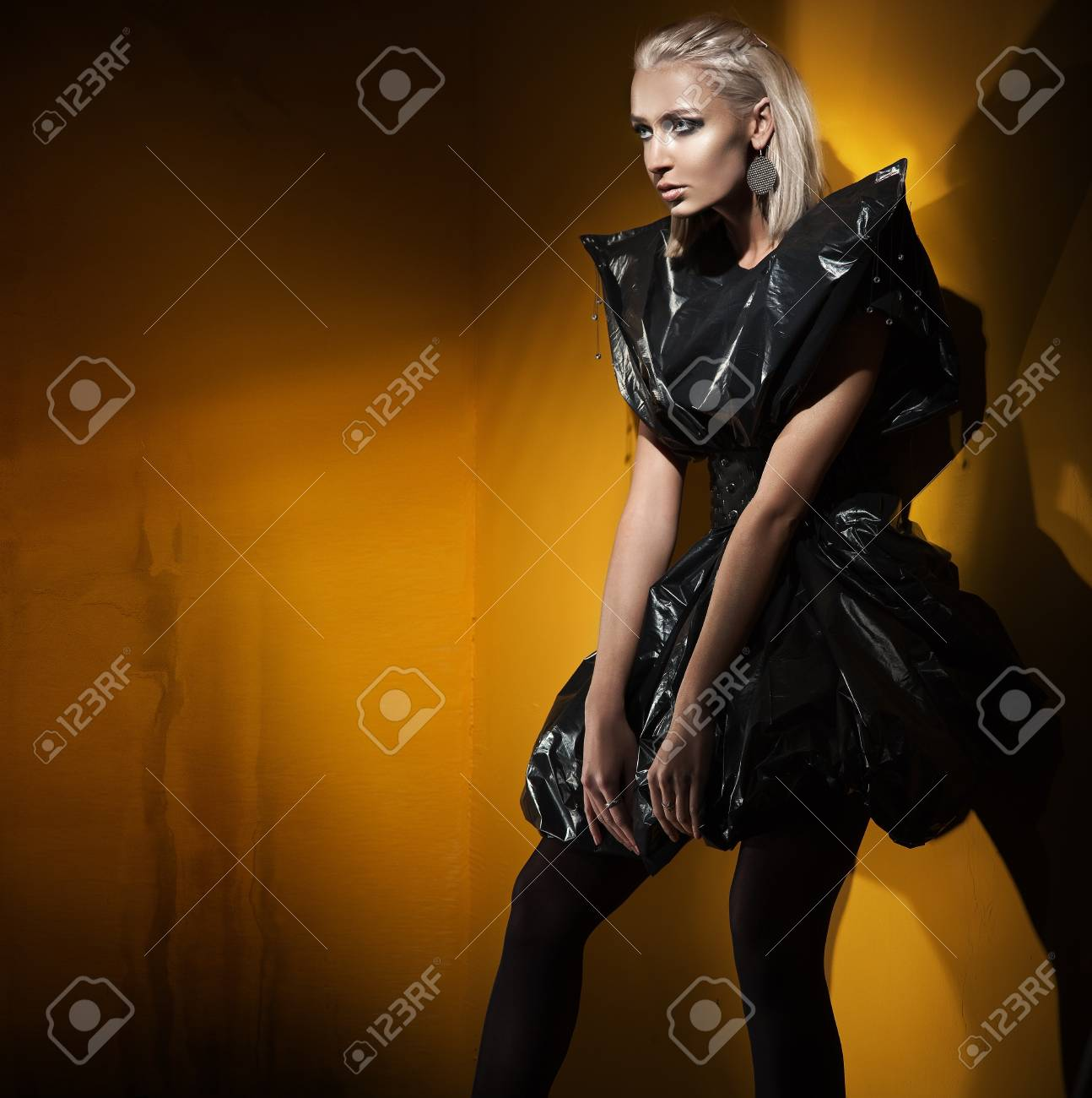 Recycling style fashion shot of a young lady Stock Photo - 8877902