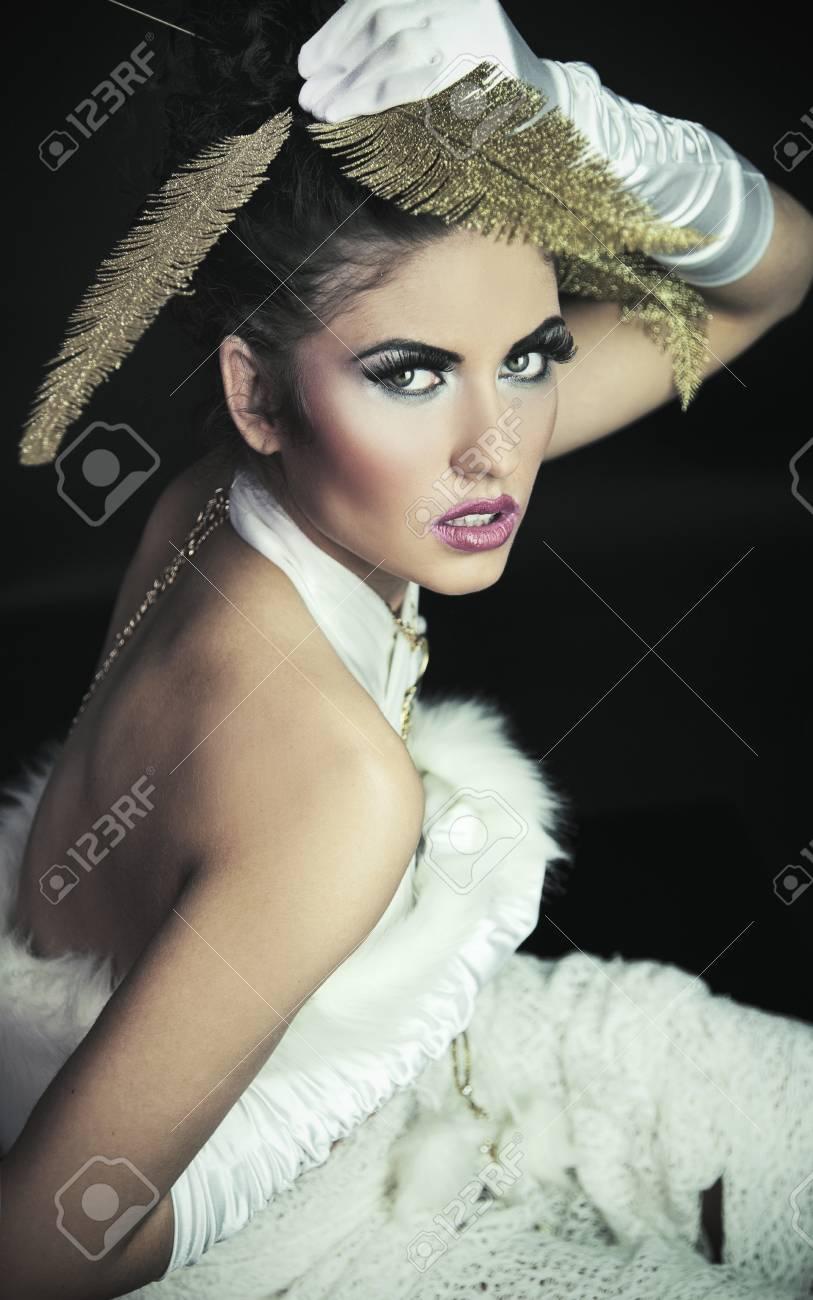 Portrait of a beautiful brunette Stock Photo - 8942446