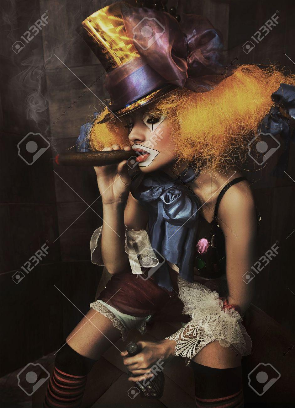 Fine art photo of a bad clown Stock Photo - 9189393