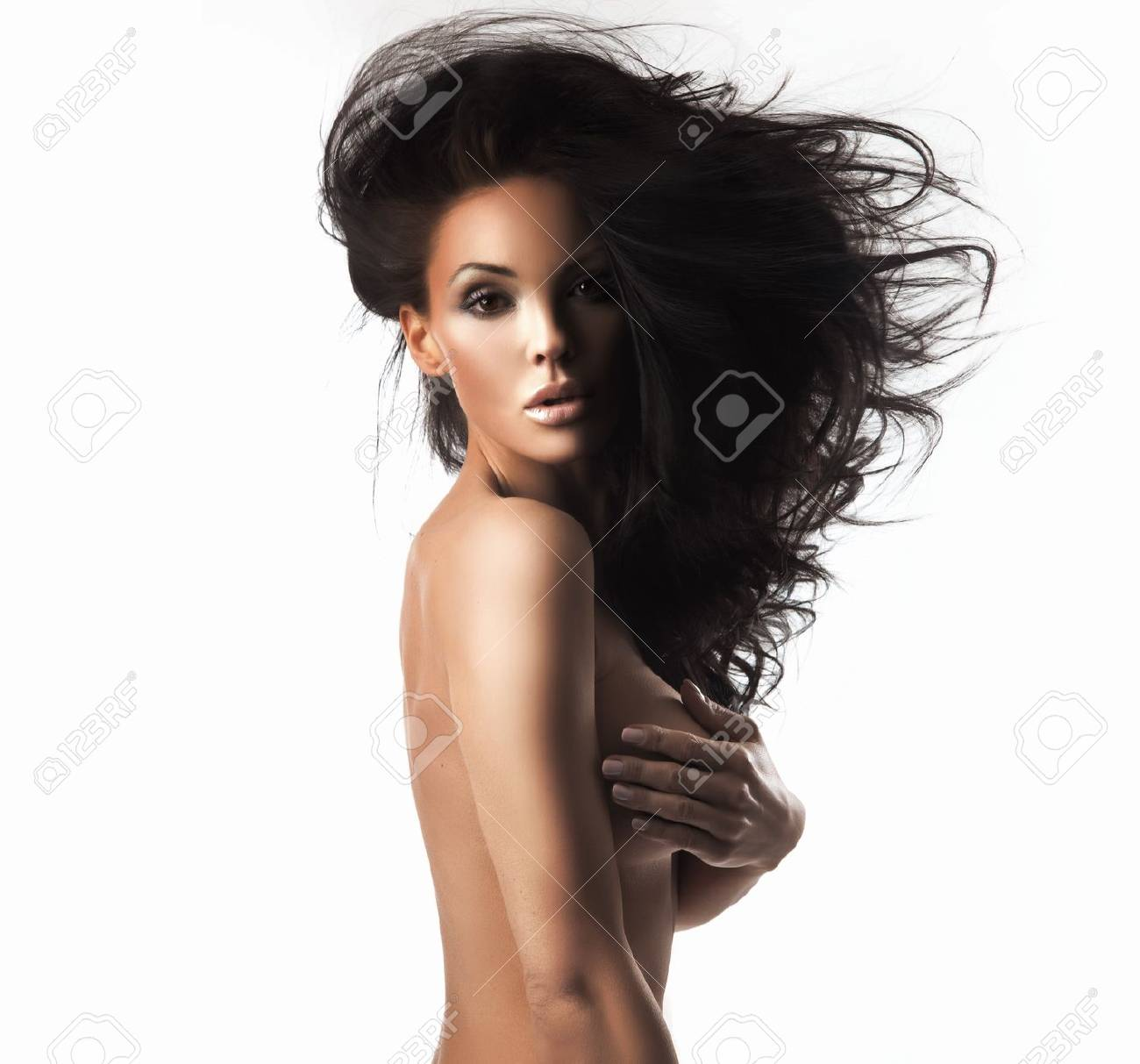Portrait of a beauty brunette Stock Photo - 9189775