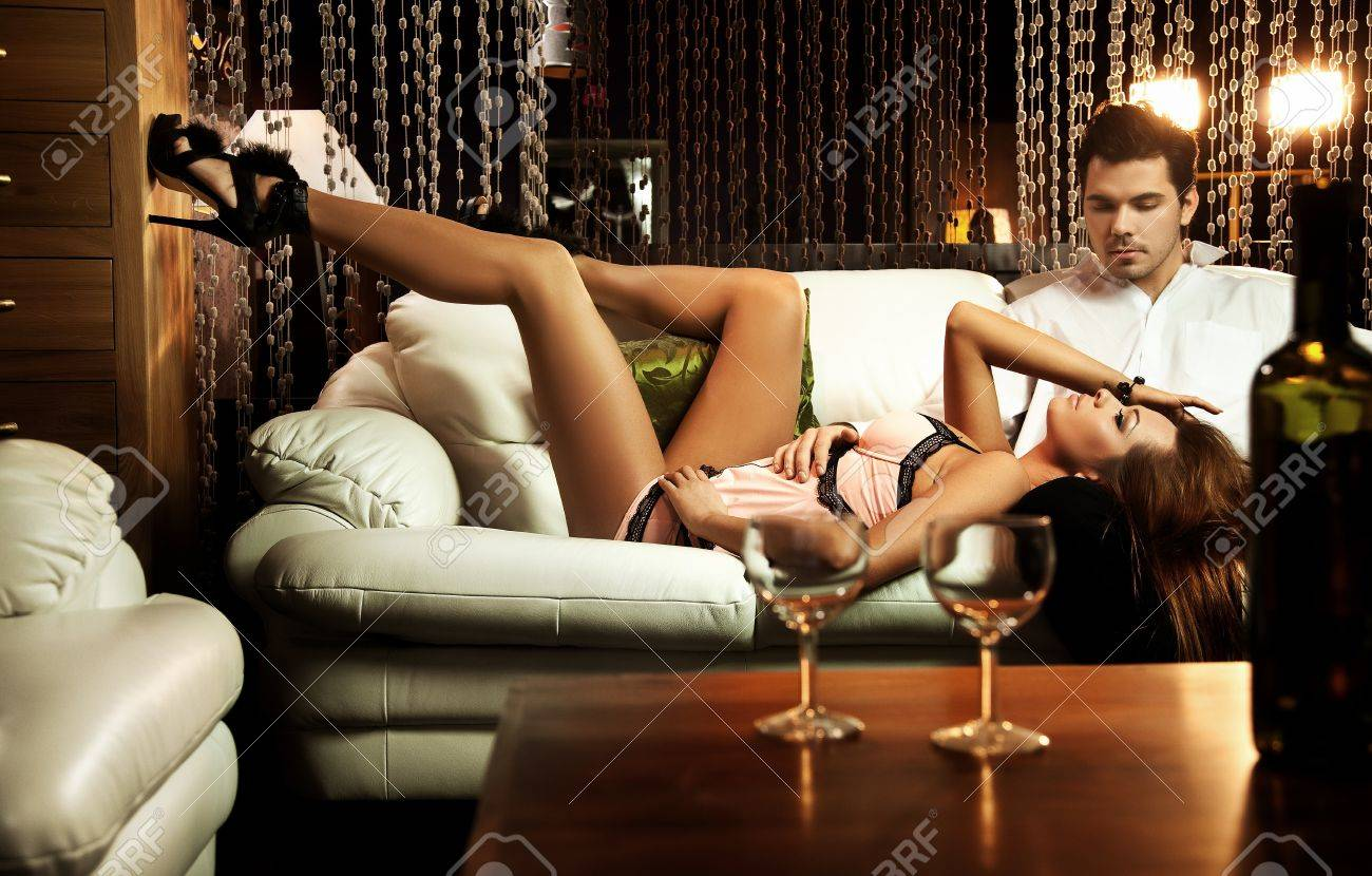 Resting couple on the sofa Stock Photo - 9336801