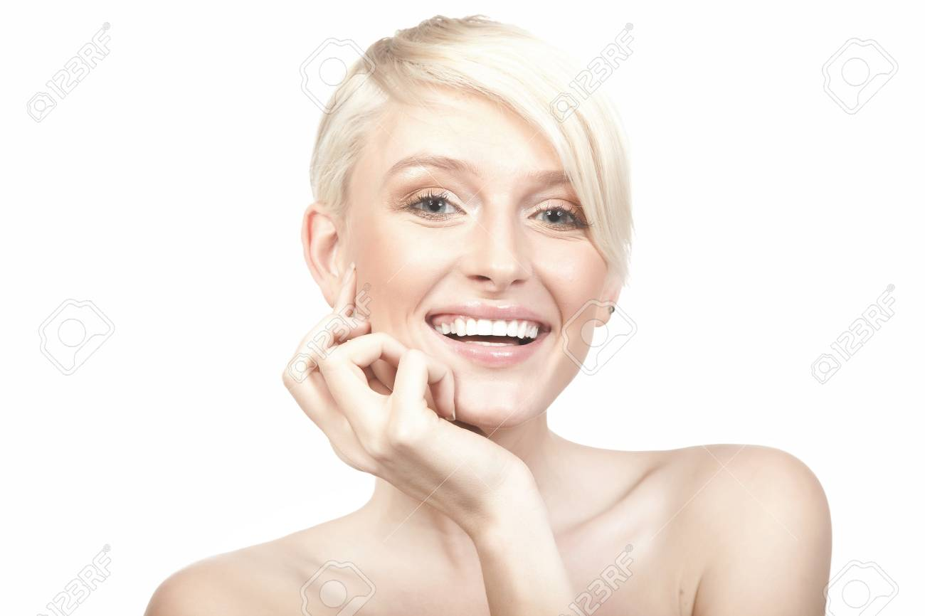 Smiling woman isolated on white background Stock Photo - 9343121