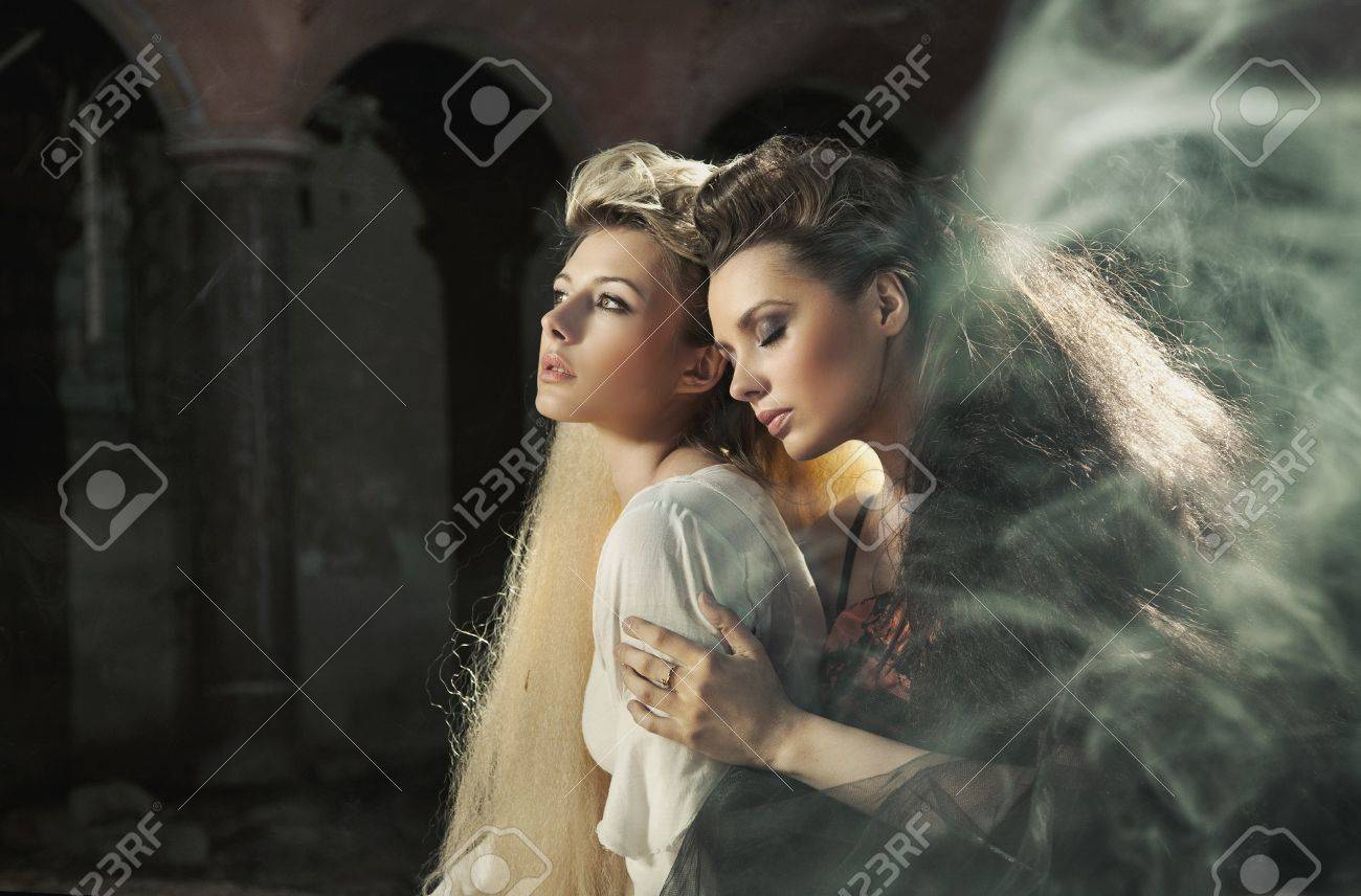 two beautiful ladies stock photo picture and royalty free image