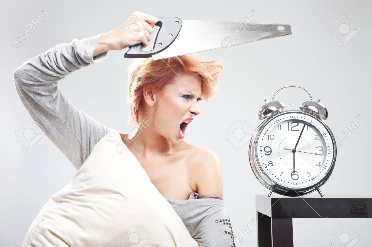 Beautiful girl at the morning in bad mood Stock Photo - 10114674