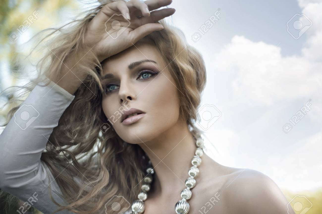 Portrait of a young blond beauty Stock Photo - 9965454