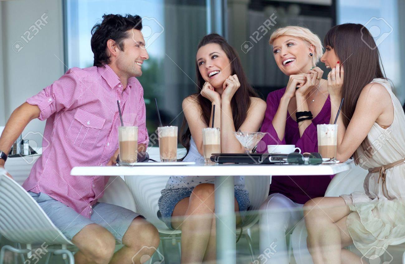 Young people enjoying lunch break Stock Photo - 10428355