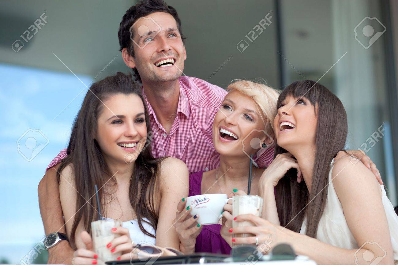 Smiling young people Stock Photo - 10428241