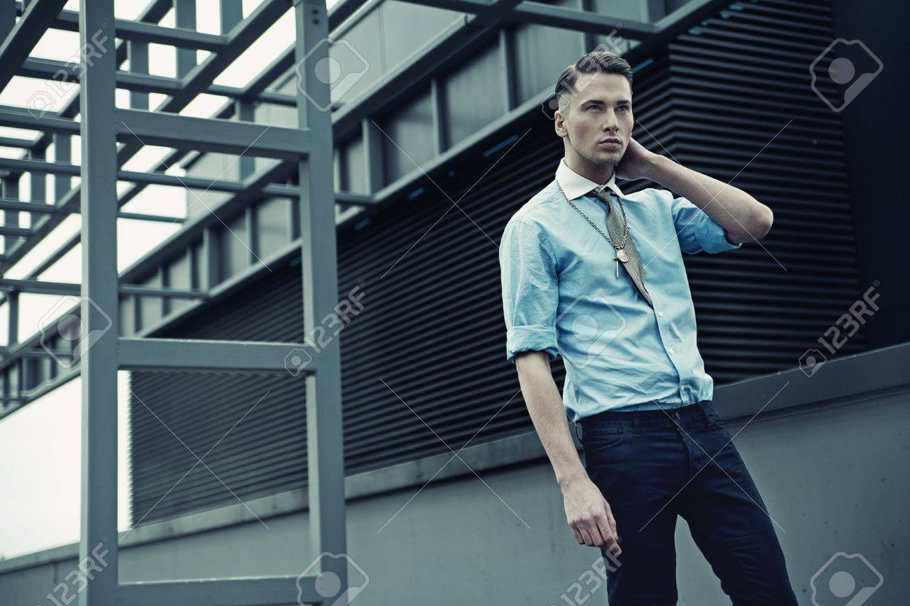 Vogue style photo of a young man Stock Photo - 13705397