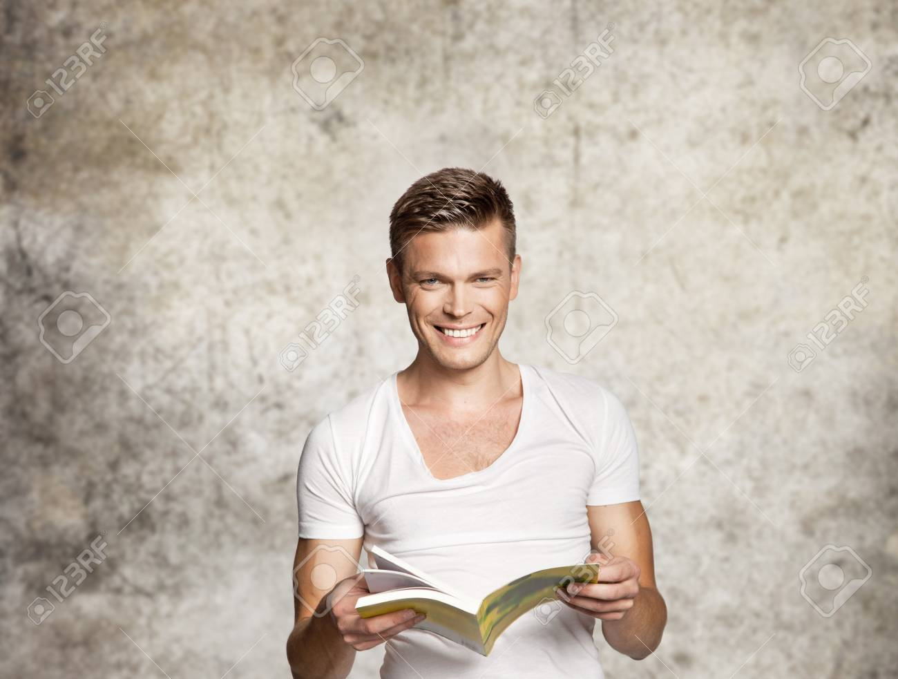 Portrait of a man with a book Stock Photo - 15864158