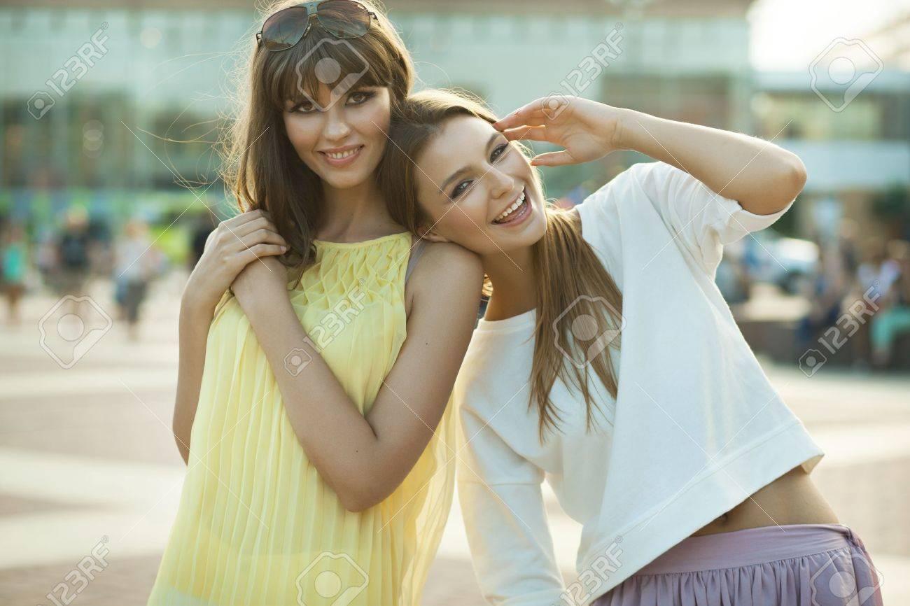 Cheerful young women Stock Photo - 16168506