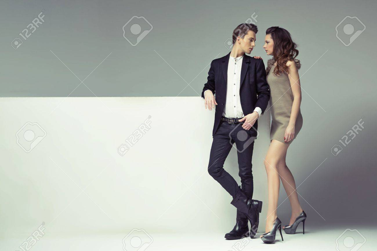 Fantastic young couple looking into their eyes Stock Photo - 18393904