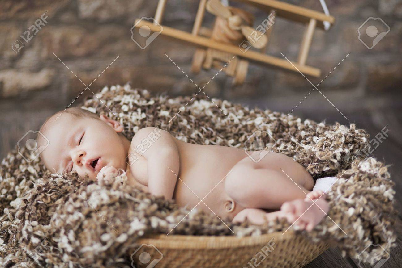 Fine picture of cute baby sleeping in toy room Stock Photo - 20784380