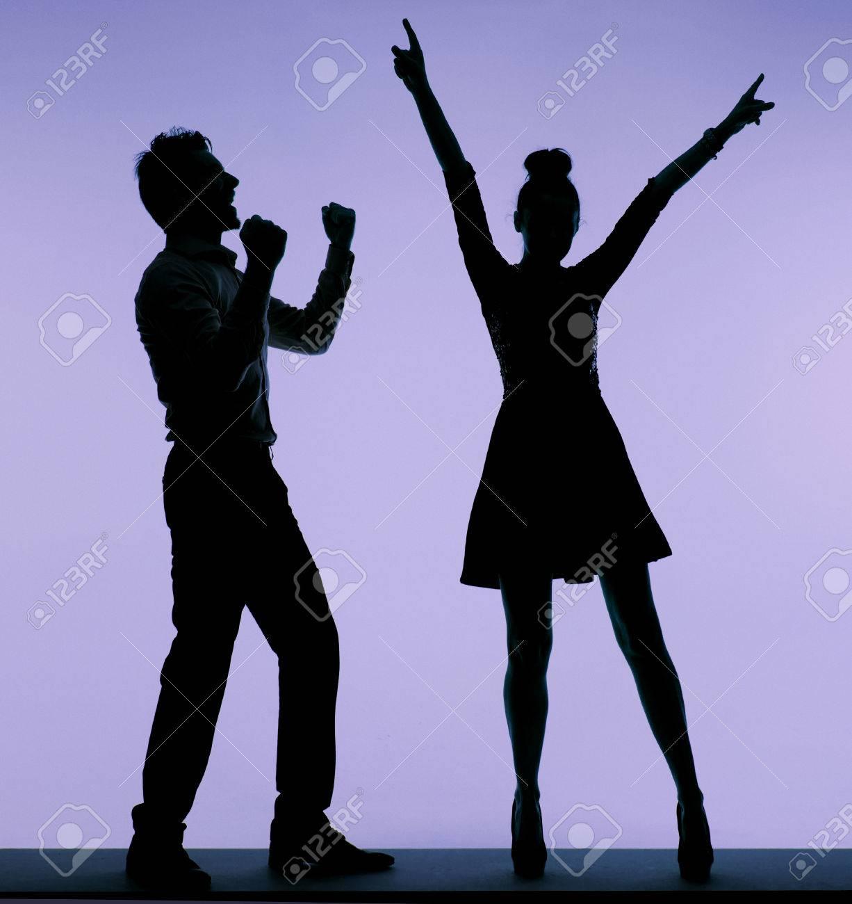 Joyful young people dancing together Stock Photo - 29748447