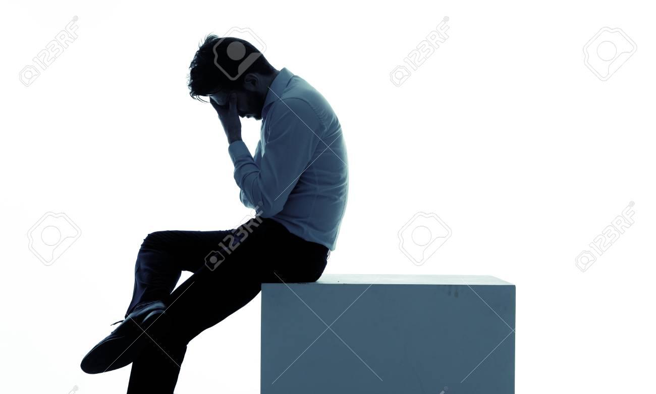 Miserable businessman lost his favourite job Stock Photo - 29748451