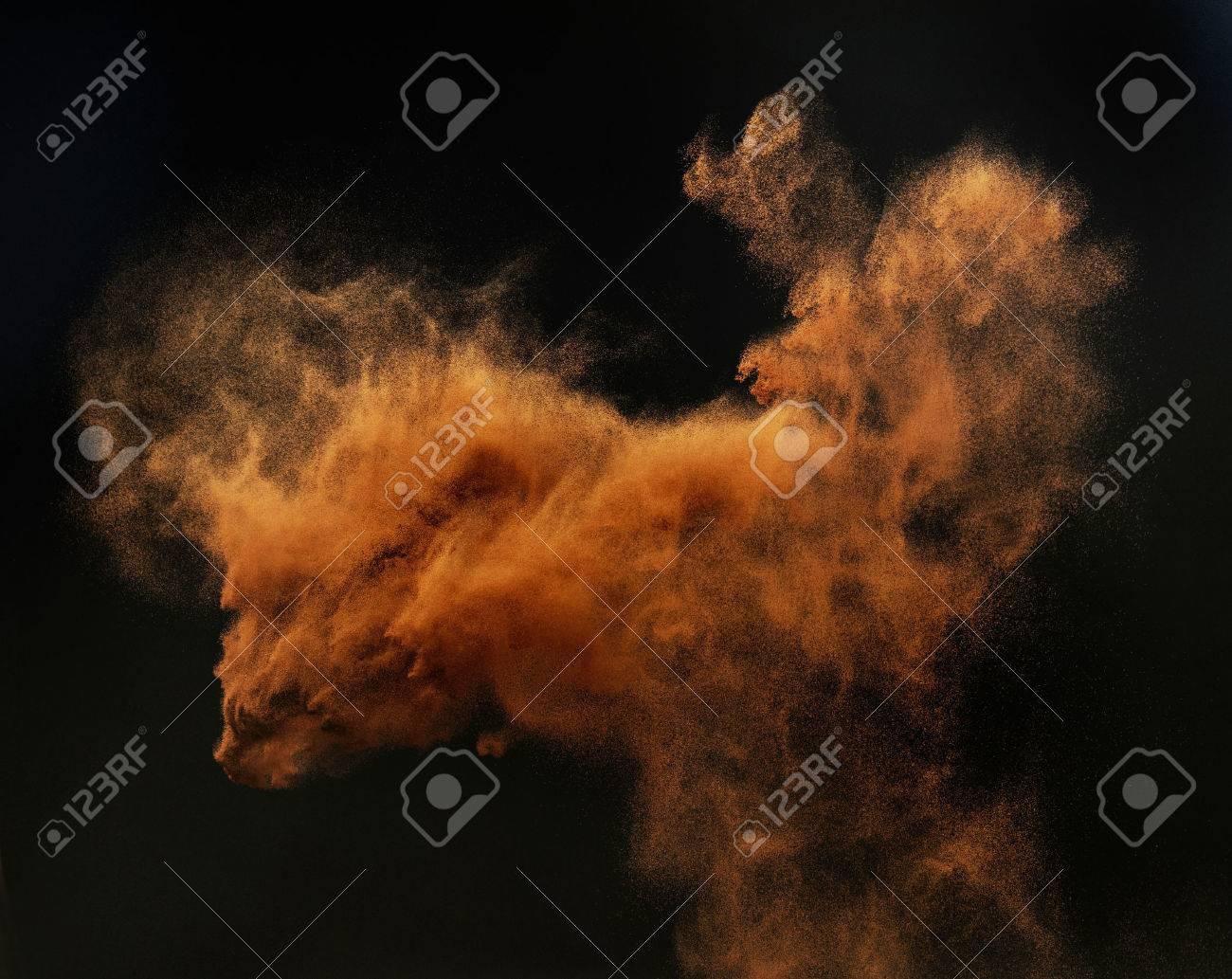 Ginger cloud of a magic sand Archivio Fotografico - 50424571