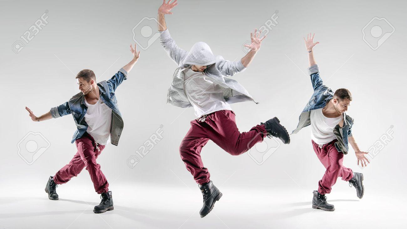 Ritratto di un uomo che balla di talento Archivio Fotografico - 53140611