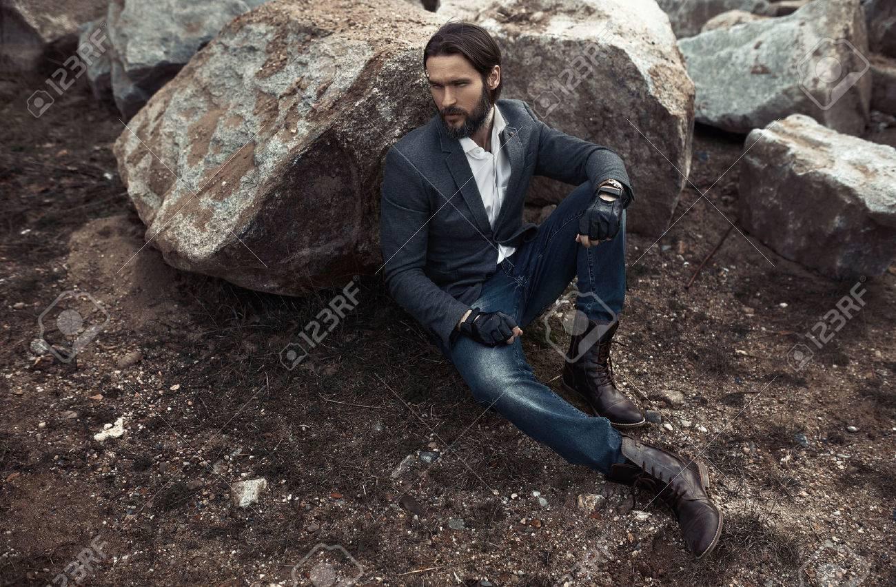 Portrait of attractive stylish man Archivio Fotografico - 55304644