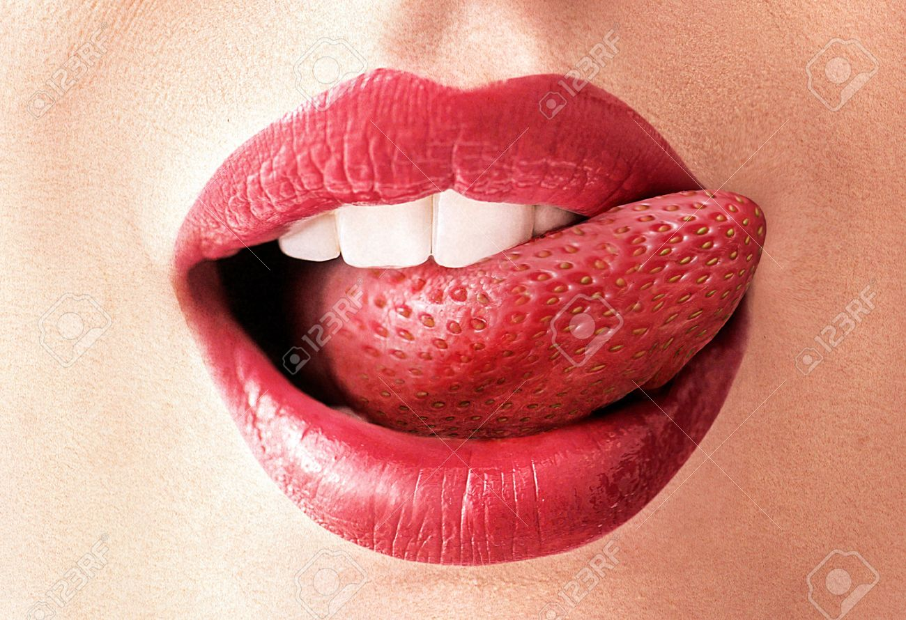 舌 いちご