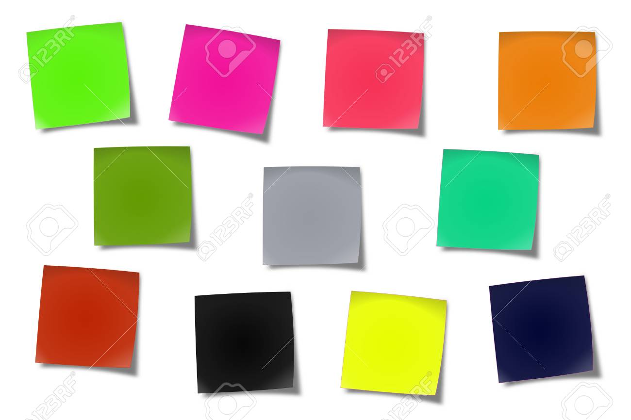 Sticker notes isolated on the white background - 19548880