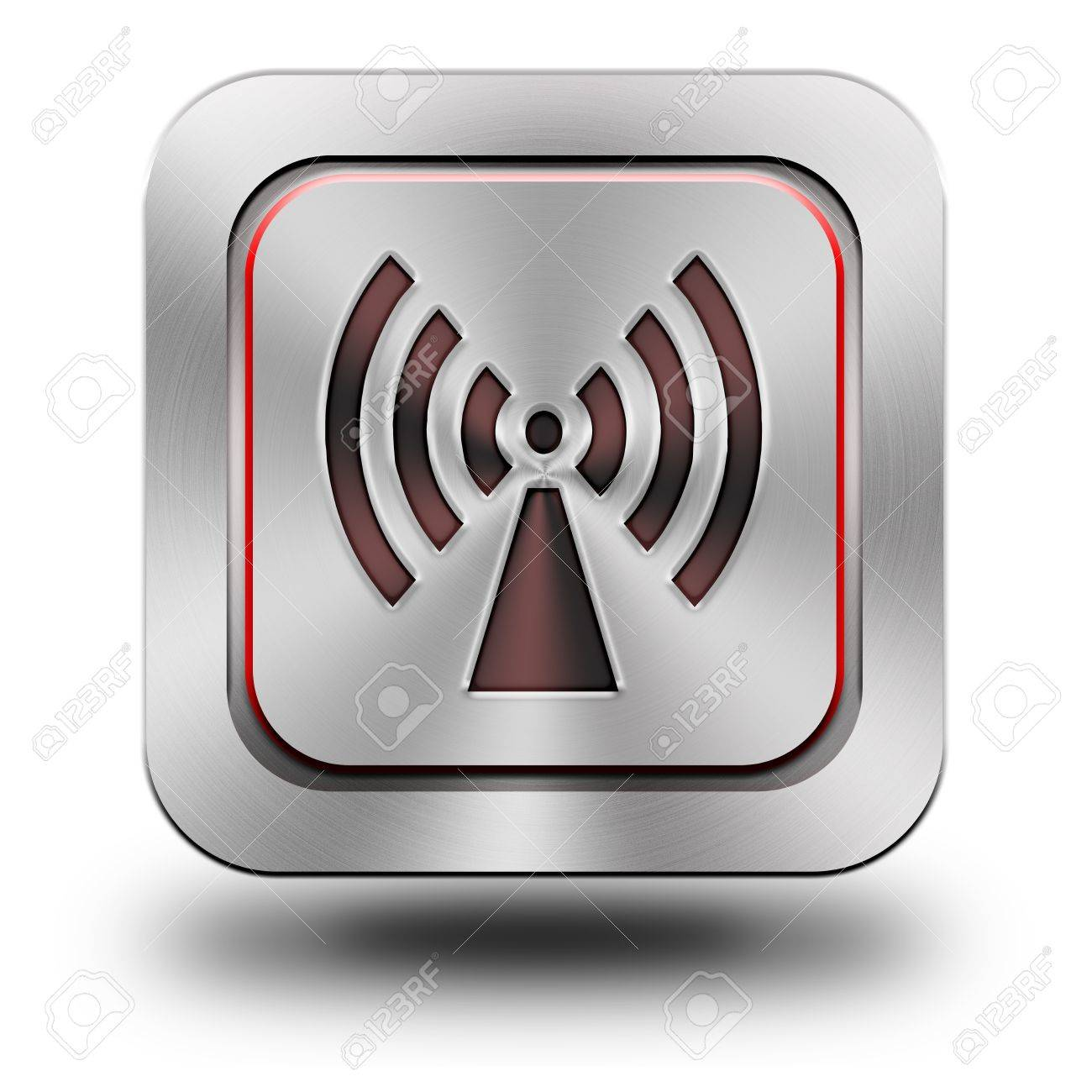 WLAN, aluminum, steel, chromium, glossy, icon, button, sign, icons, buttons, crazy colors - 23951445