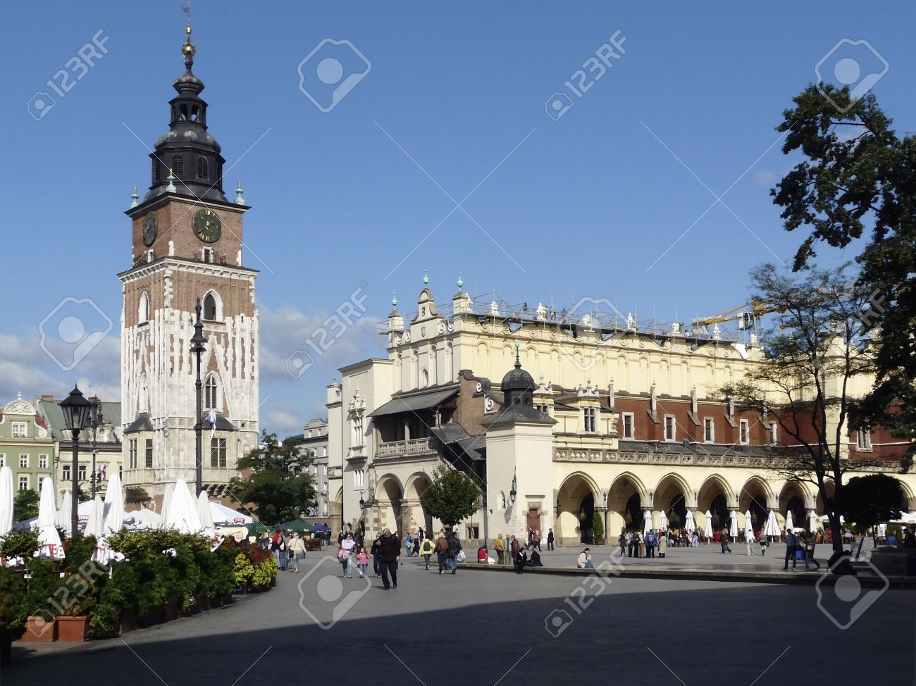 City hall tower and cloth hall in Krakow in Poland Stock Photo - 11180119